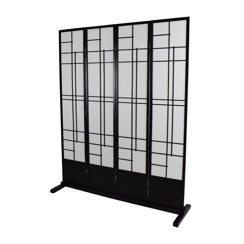 Eudes Shoji 4 Panel Room Divider Eudes Shoji