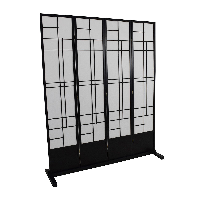 Eudes Shoji 4 Panel Room Divider / Decor