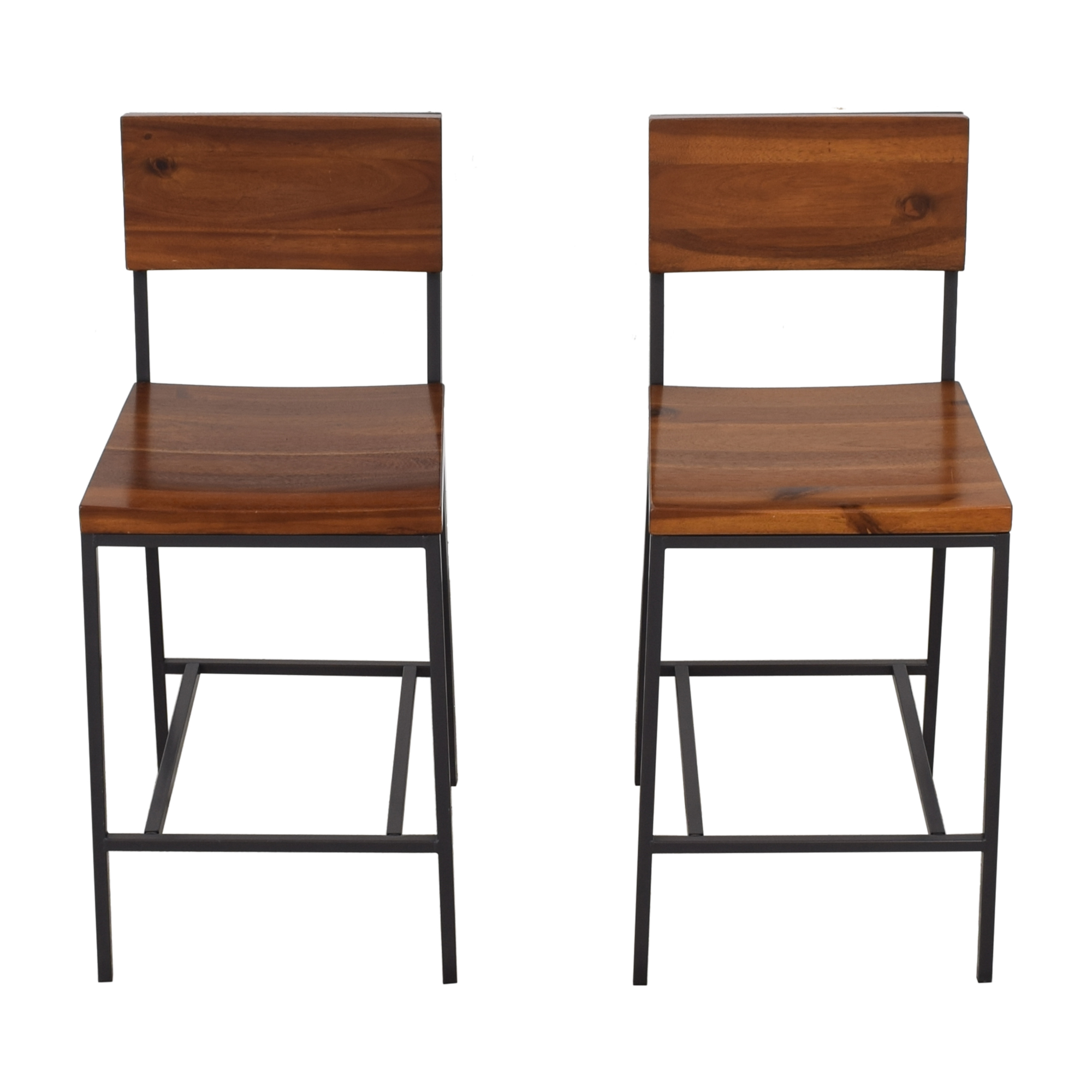 West Elm Rustic Counter Stools / Stools