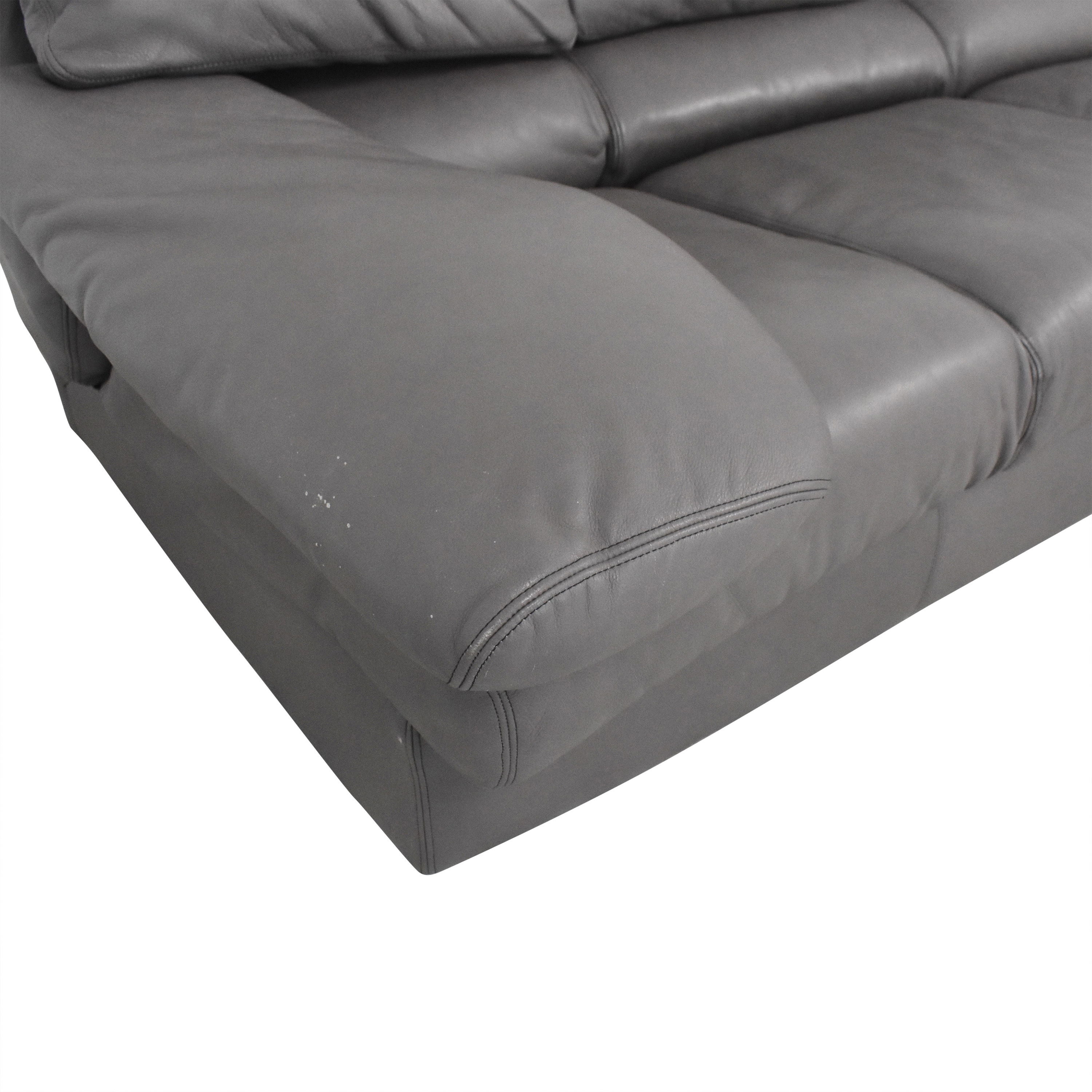 buy Leather Center Curved Sectional Sofa with Ottoman Leather Center Sectionals