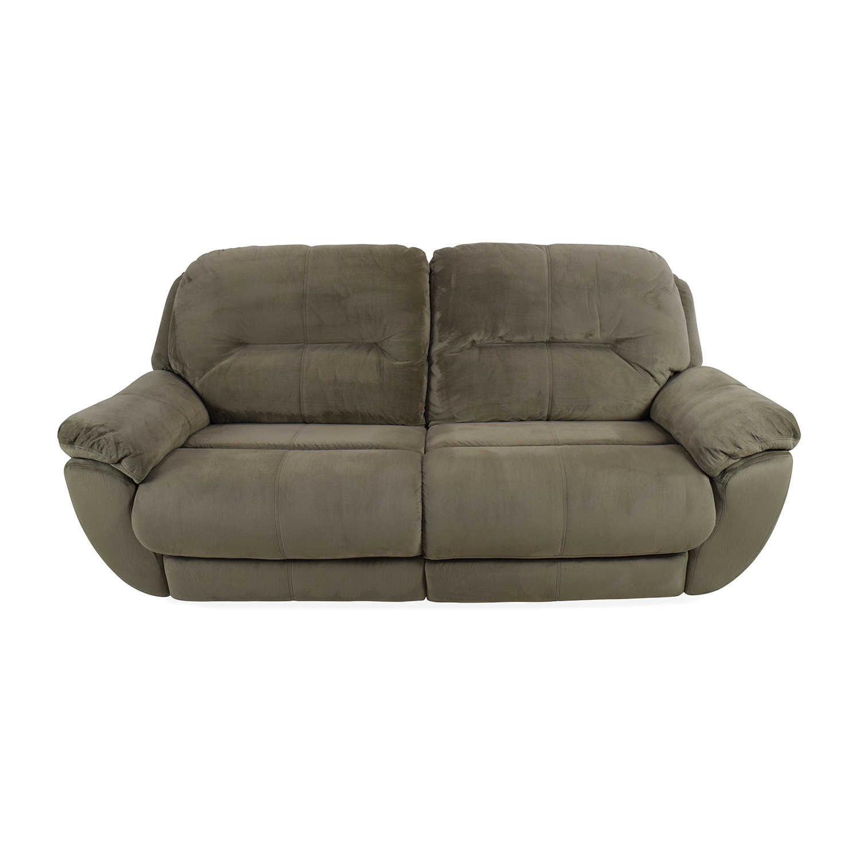 80% OFF - Raymour & Flanigan Kathy Ireland Home Quinn Power-Reclining Sofa  / Sofas