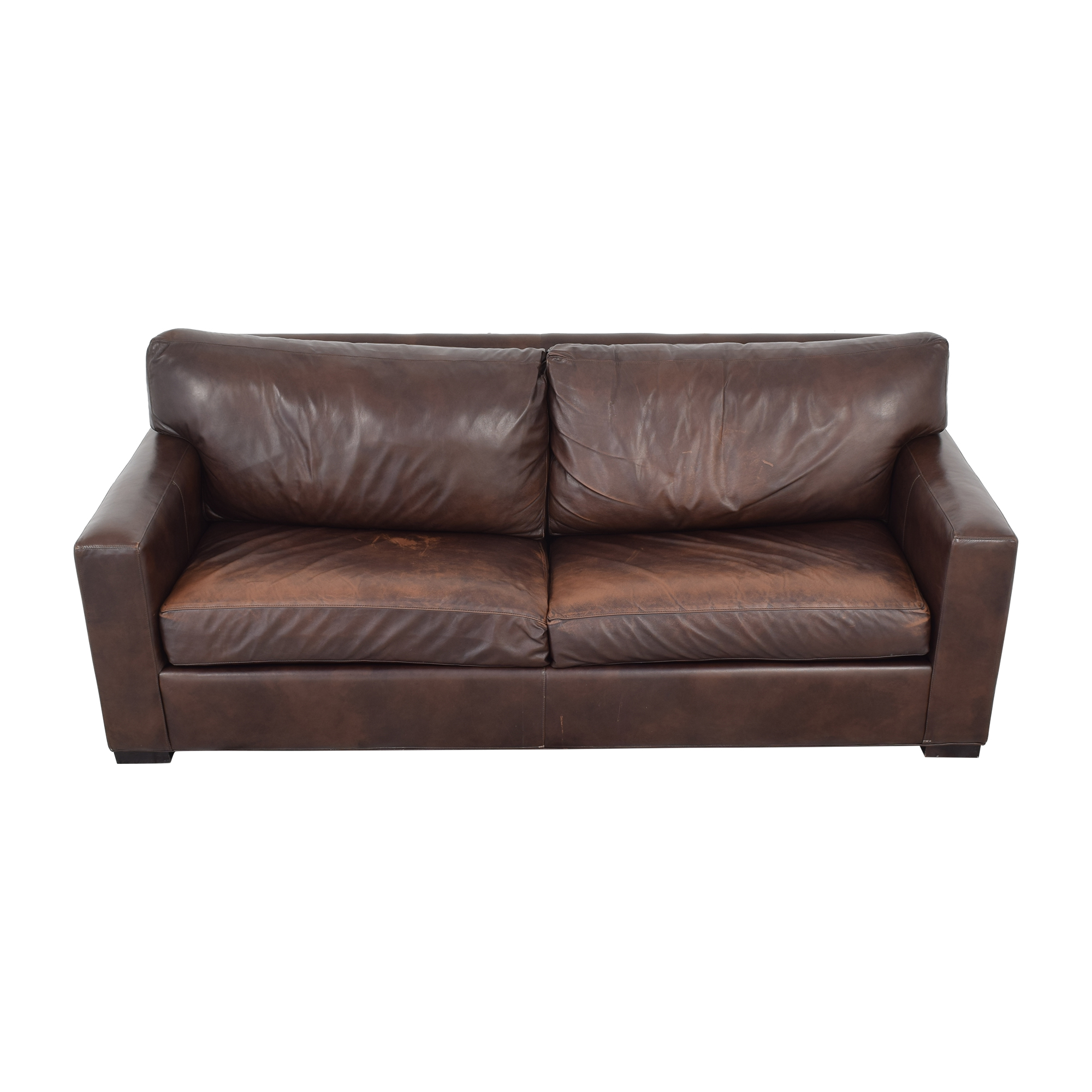 Crate & Barrel Crate & Barrel Axis II Leather Two Seat Queen Sleeper Sofa discount