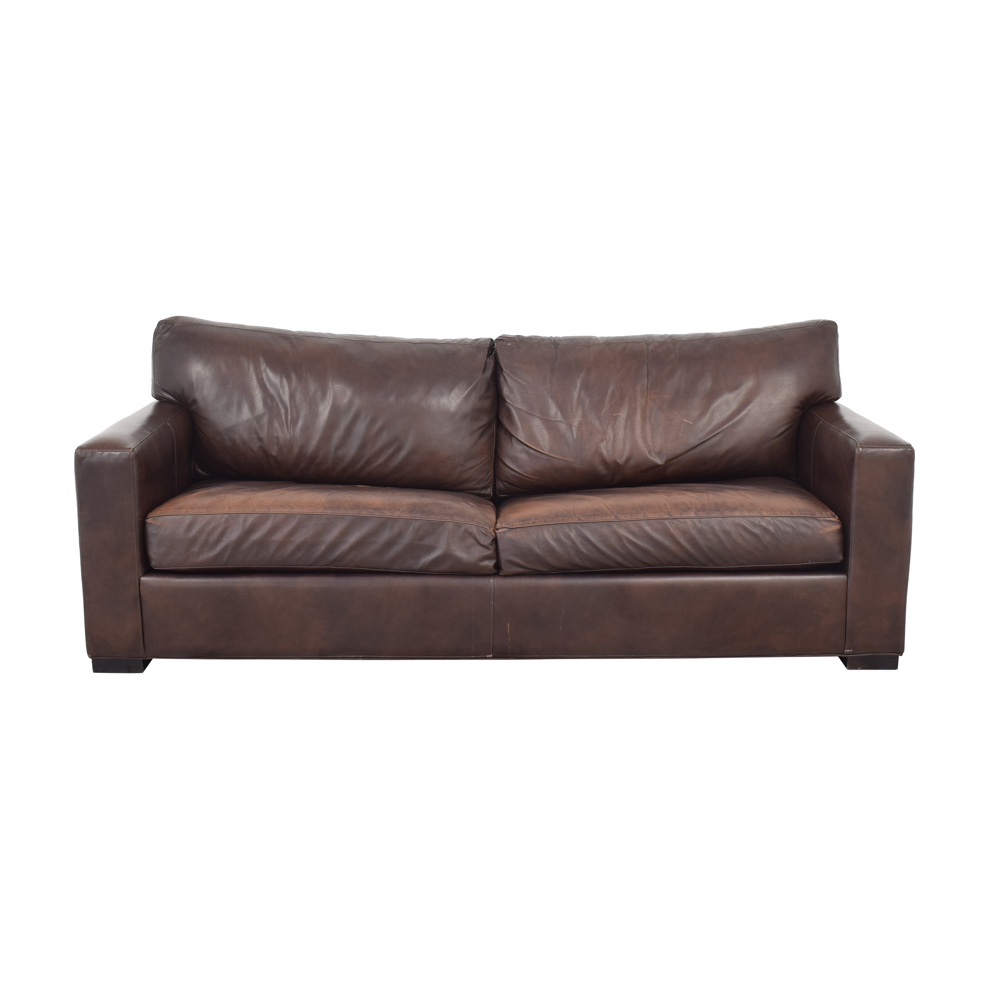 Crate & Barrel Axis II Leather Two Seat Queen Sleeper Sofa sale