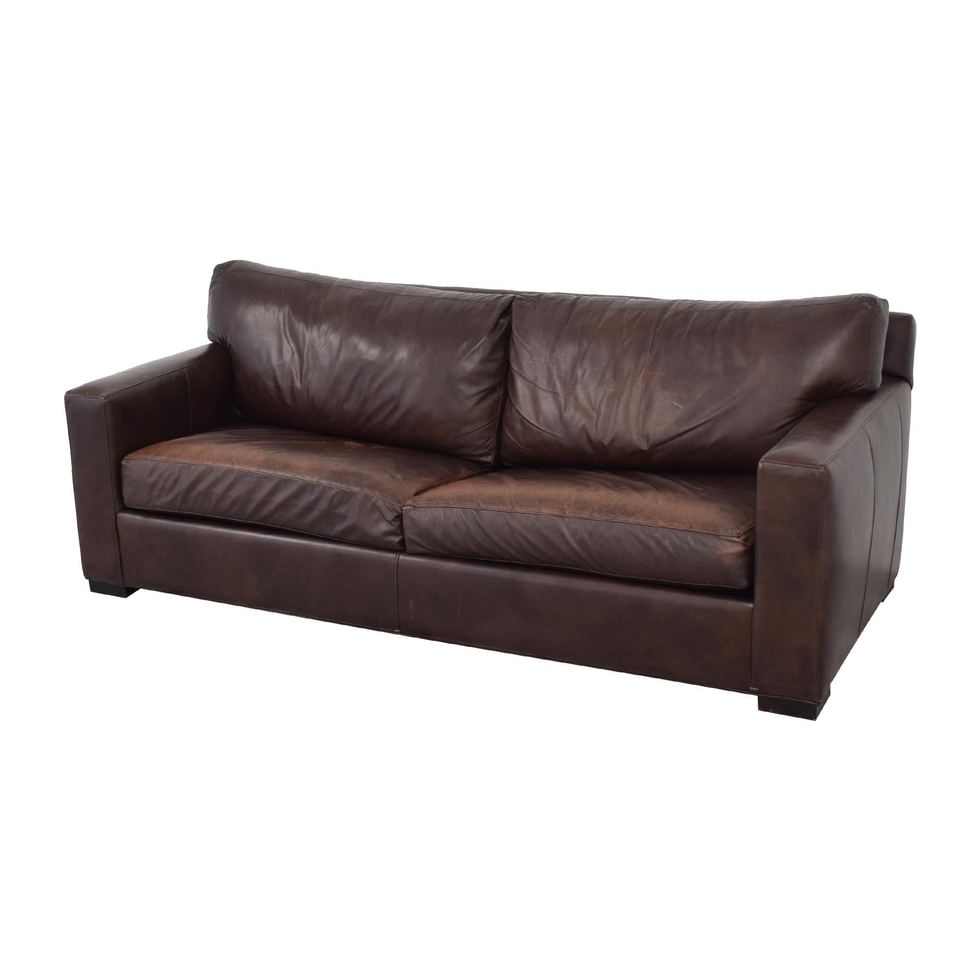 buy Crate & Barrel Axis II Leather Two Seat Queen Sleeper Sofa Crate & Barrel