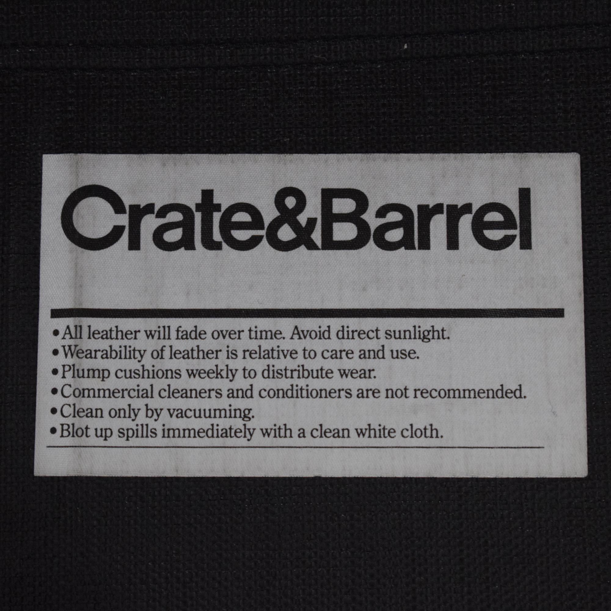Crate & Barrel Crate & Barrel Axis II Leather Two Seat Queen Sleeper Sofa ct
