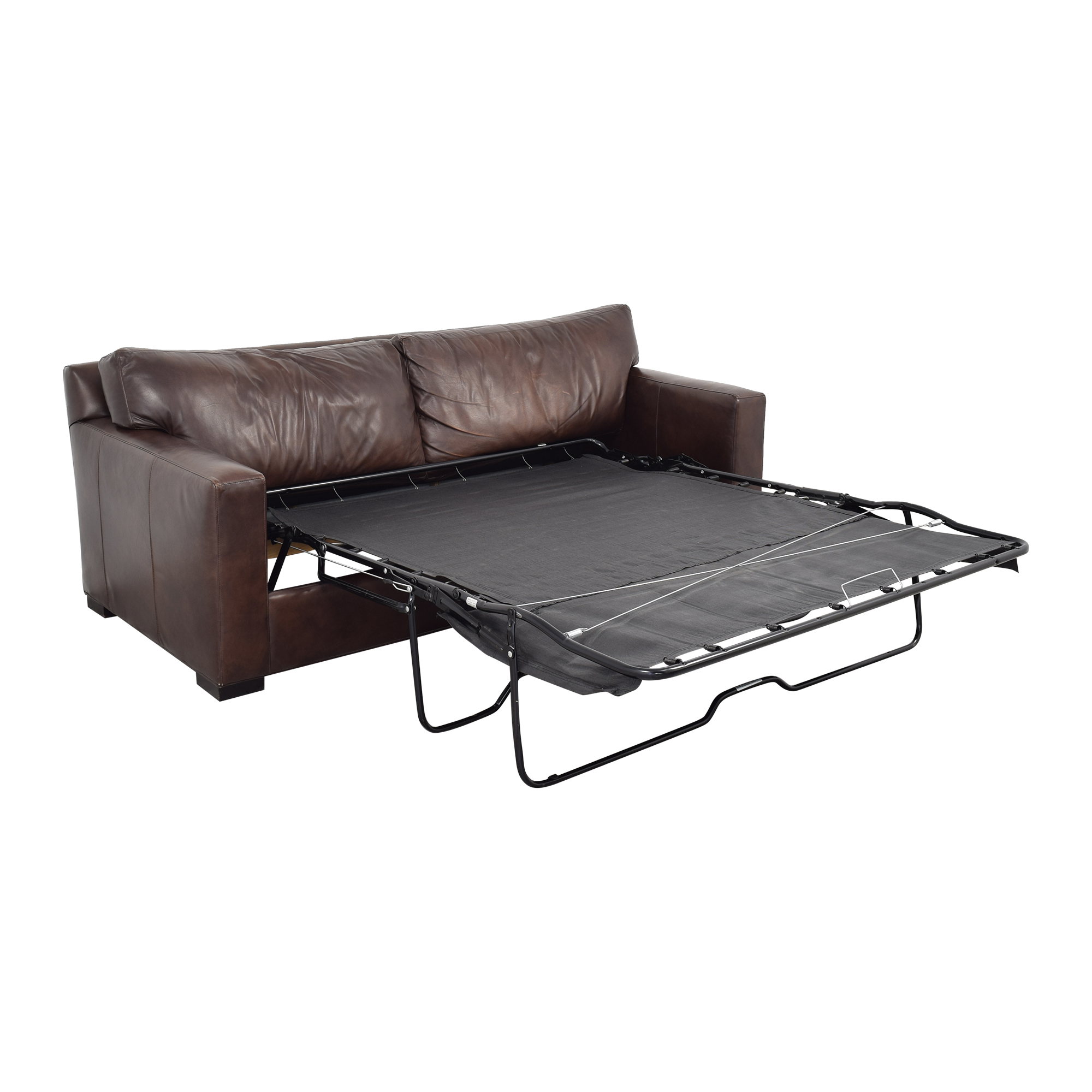Crate & Barrel Axis II Leather Two Seat Queen Sleeper Sofa / Sofa Beds
