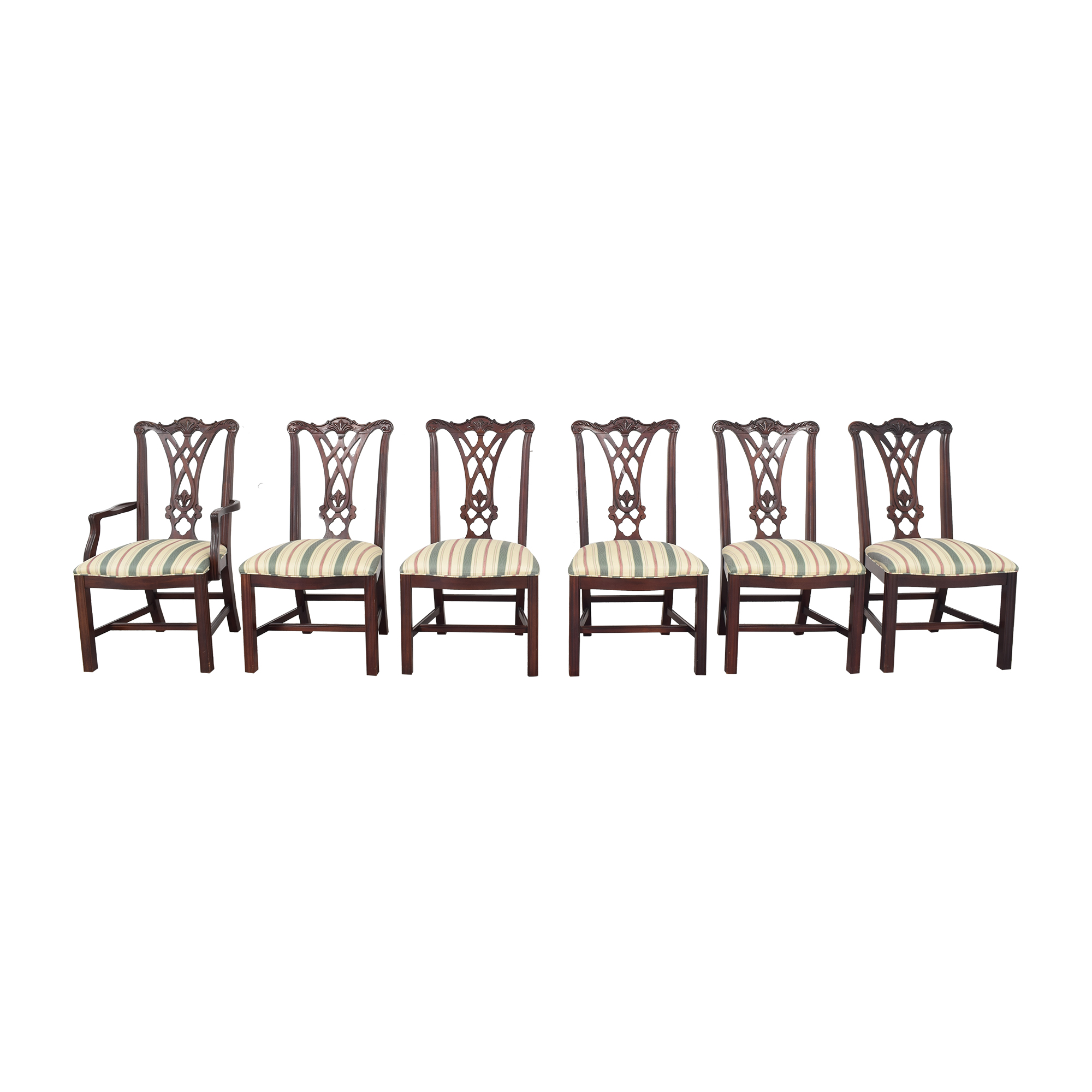 Thomasville Thomasville Chippendale Style Dining Chairs pa