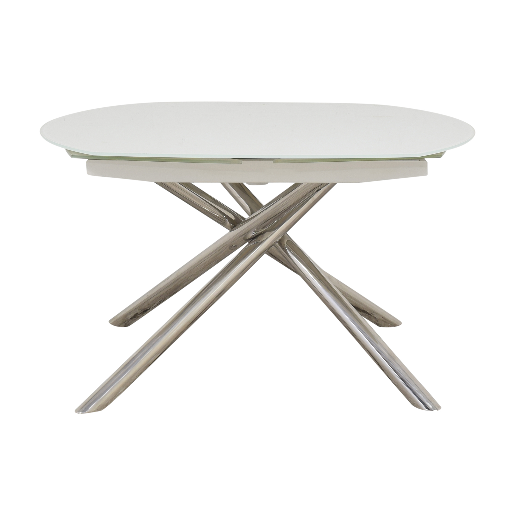 Modani Modani Astro Extendable Dining Table white and silver