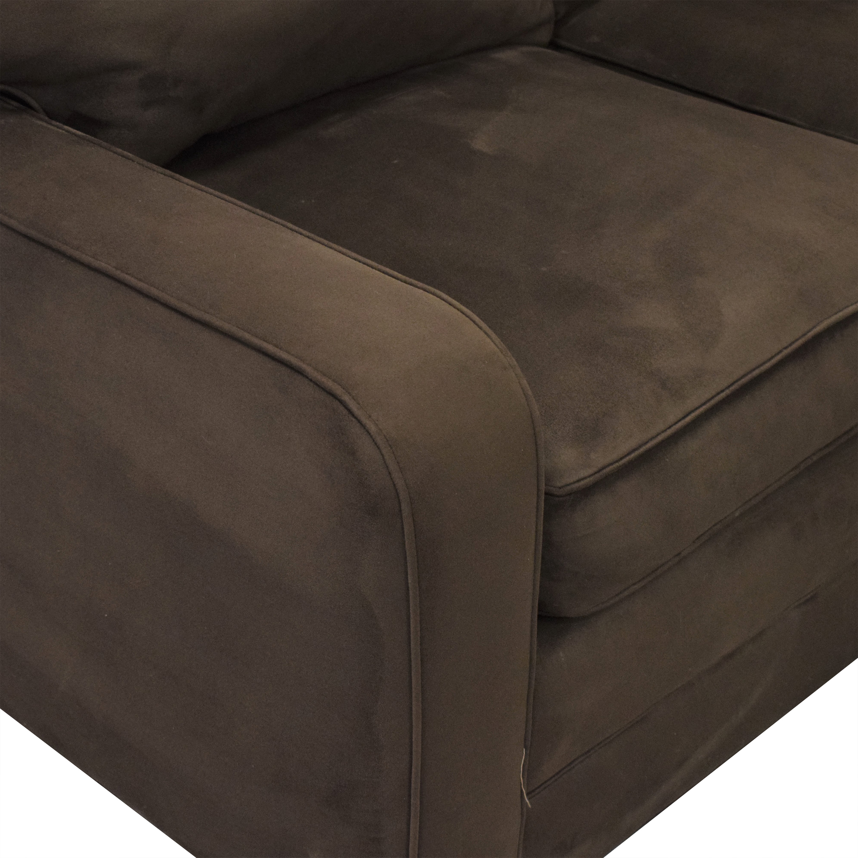 Taylor King Brushed Velvet Queen Sectional Sofa sale
