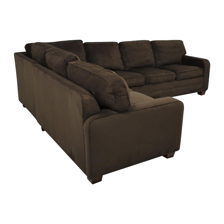 Taylor King Brushed Velvet Queen Sectional Sofa / Sofas