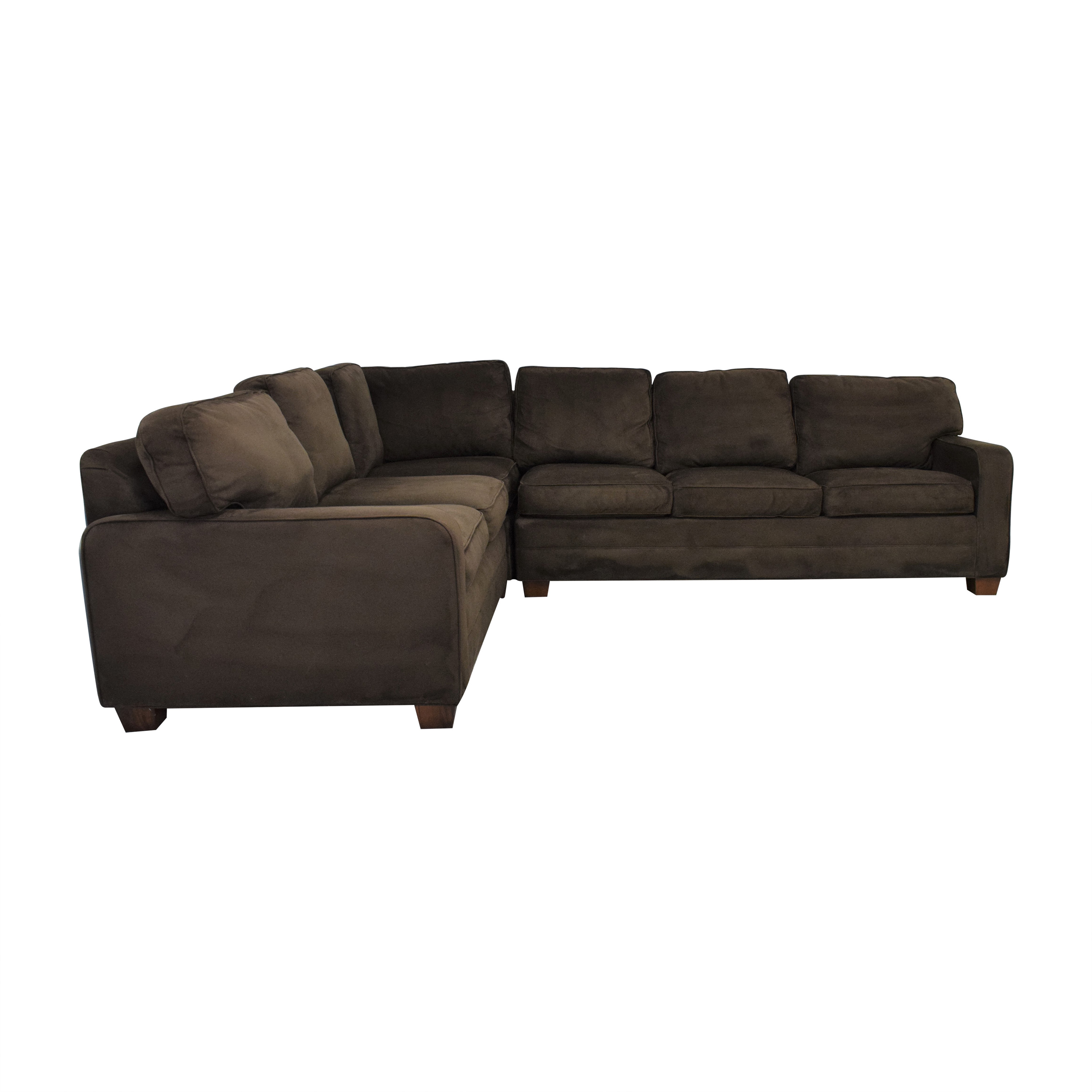 Taylor King Taylor King Brushed Velvet Queen Sectional Sofa used