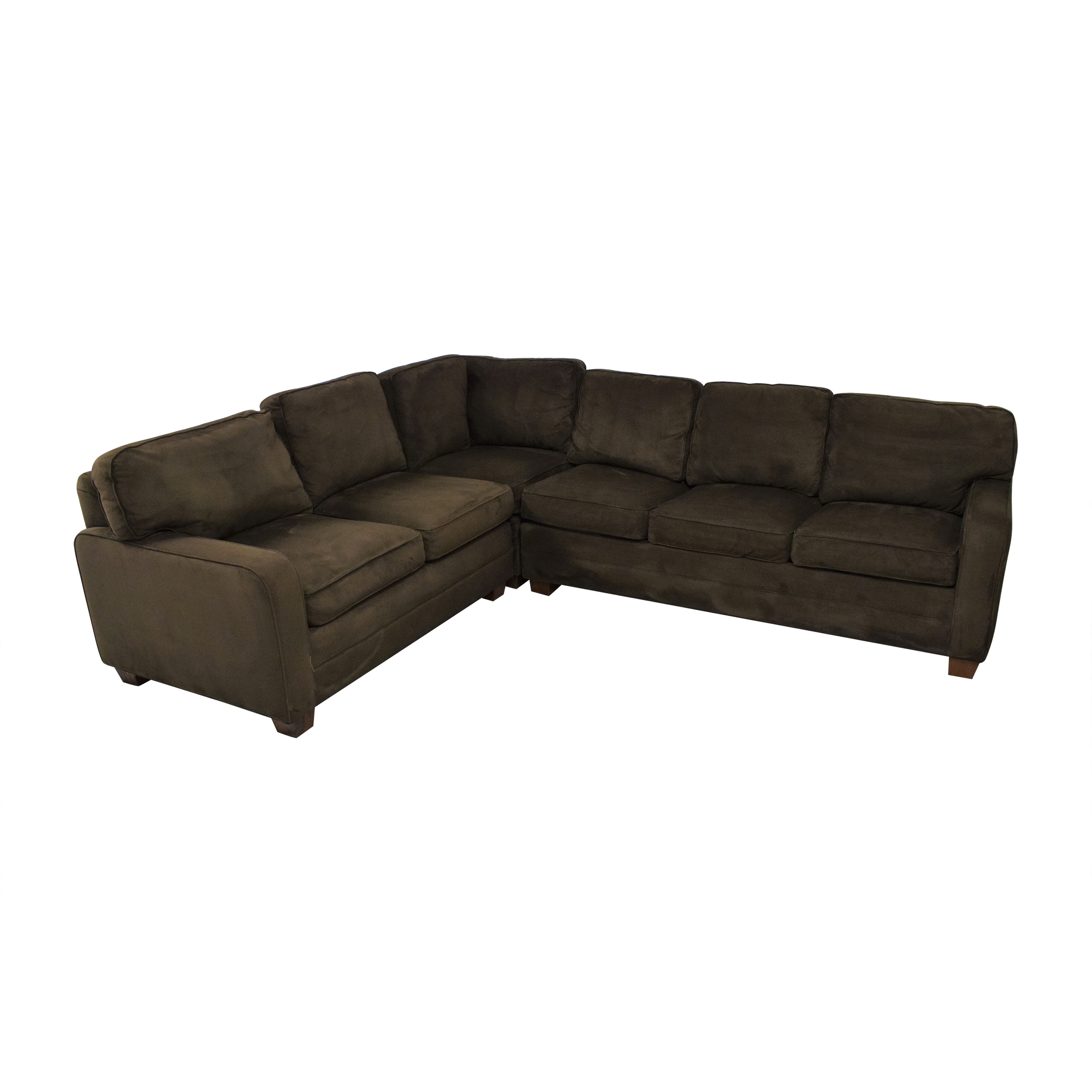 Taylor King Taylor King Brushed Velvet Queen Sectional Sofa price
