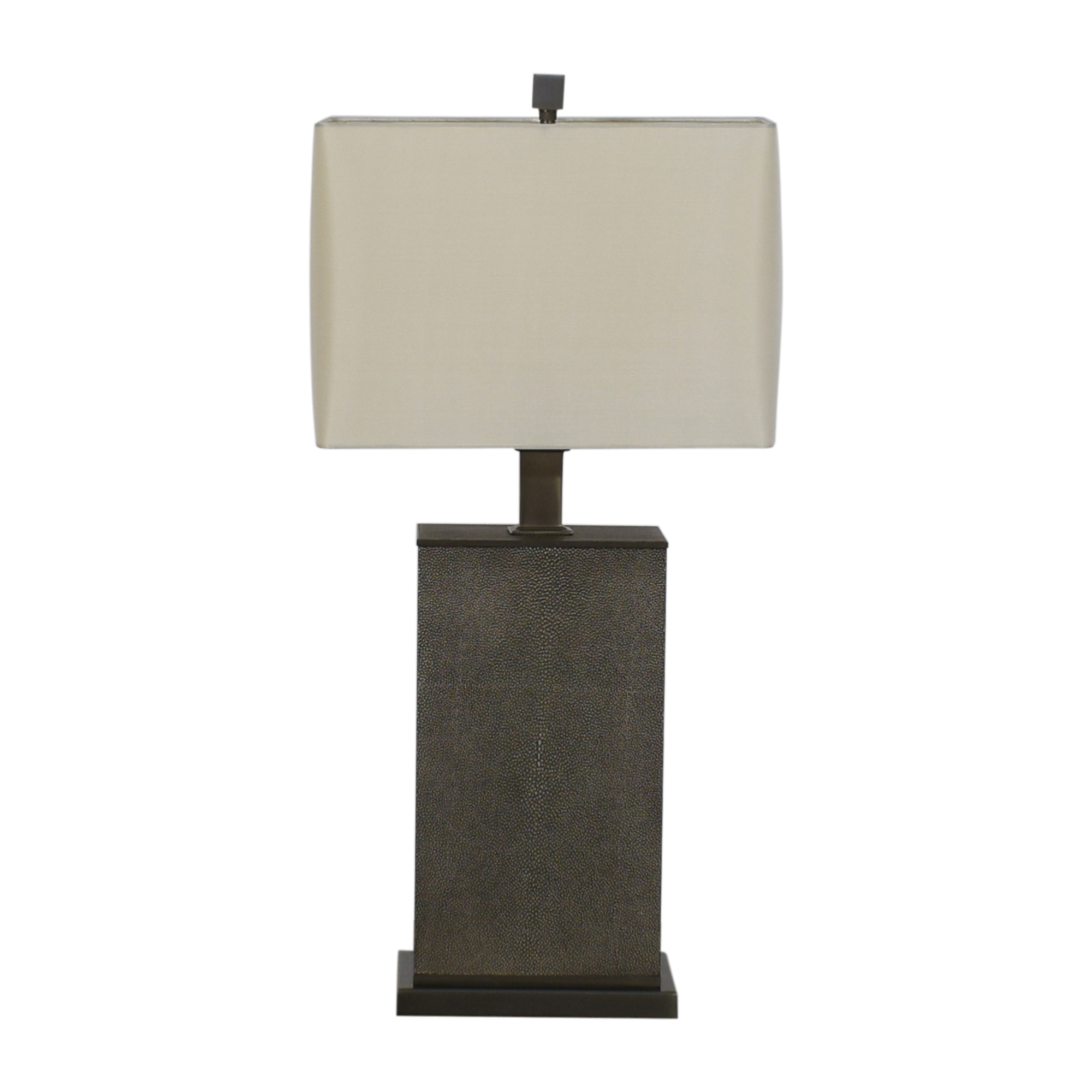 shop Restoration Hardware Delano Shagreen Rectangular Table Lamp Restoration Hardware Decor
