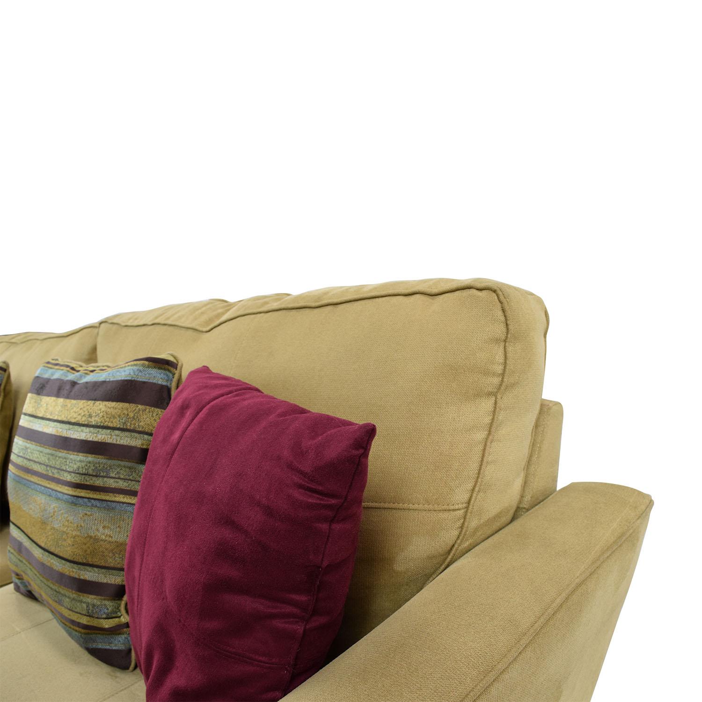 78% OFF Jennifer Convertibles Jennifer Convertibles Tan Sofa Sofas