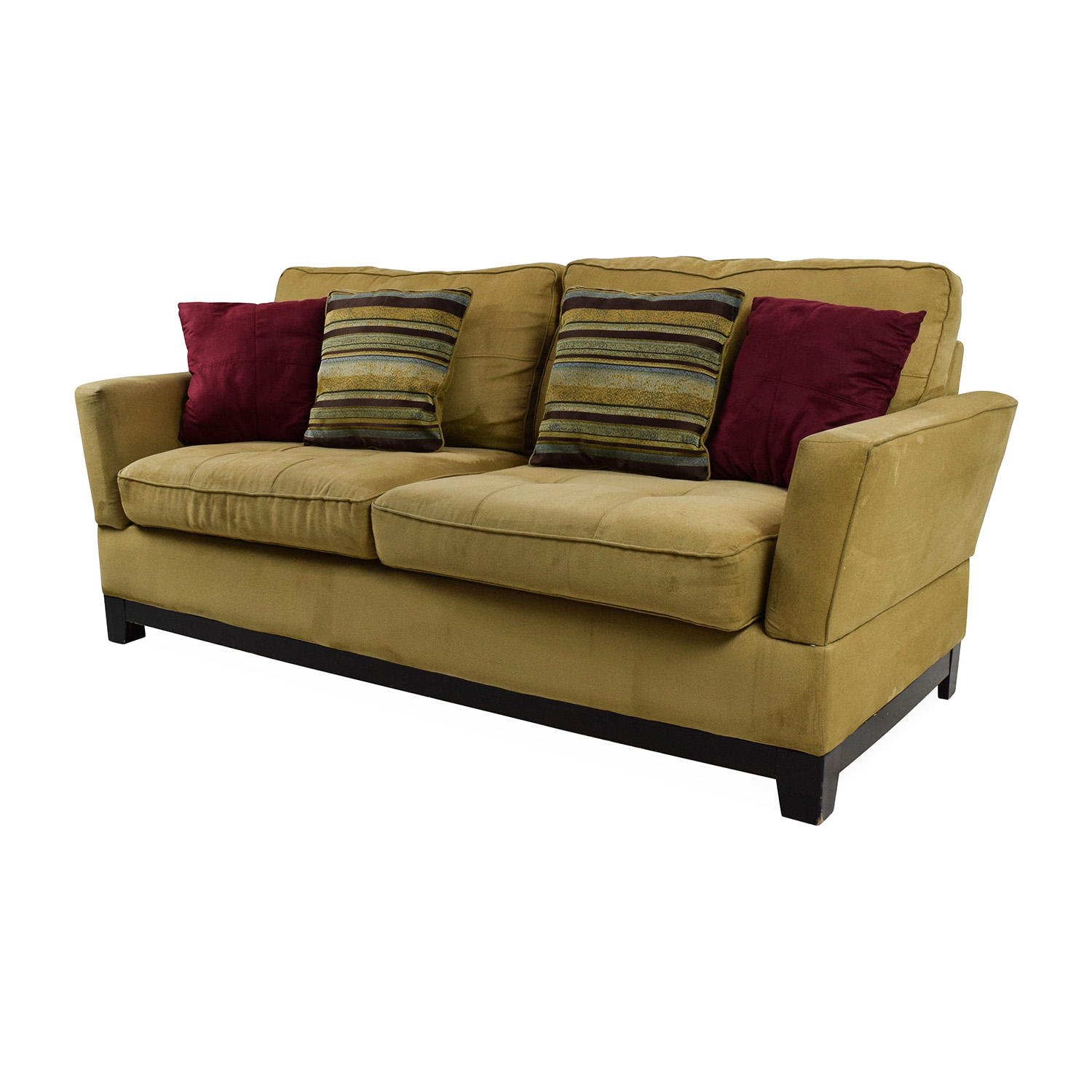 Hampton sofa in coral stripe from jennifer convertibles for Sectional sofa jennifer convertible
