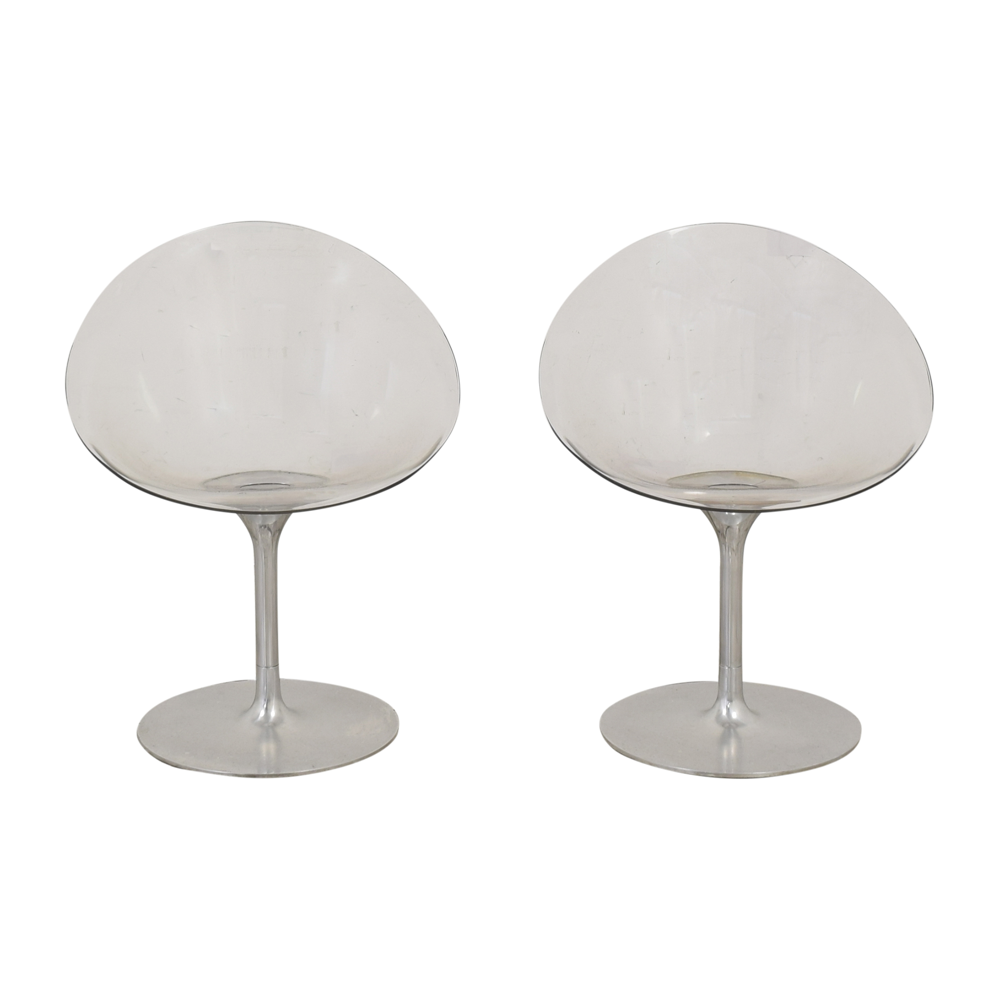 Kartell Kartell by Philippe Starck Ero|s| Swivel Chairs clear and silver