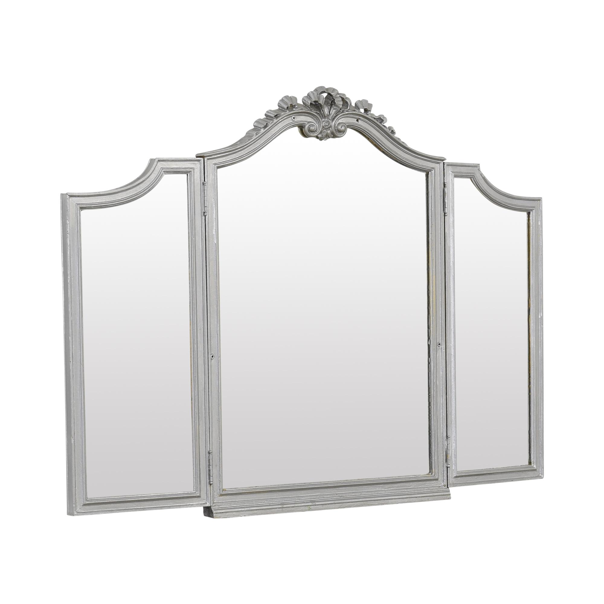 Vintage Tri-Fold Mirror Decor