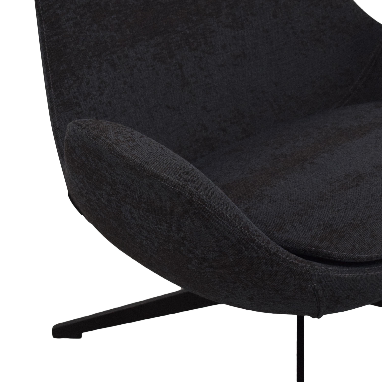 buy Koleksiyon Halia Low Back Swivel Armchair Koleksiyon Accent Chairs