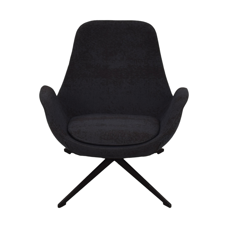 shop Koleksiyon Halia Low Back Swivel Armchair Koleksiyon Accent Chairs