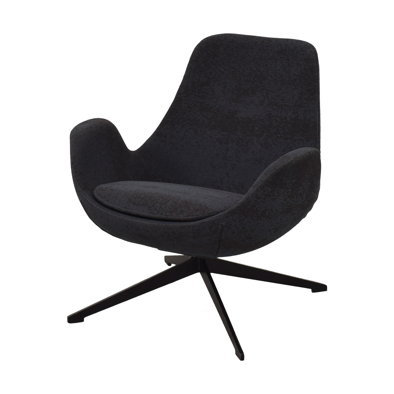 Koleksiyon Koleksiyon Halia Low Back Swivel Armchair Accent Chairs