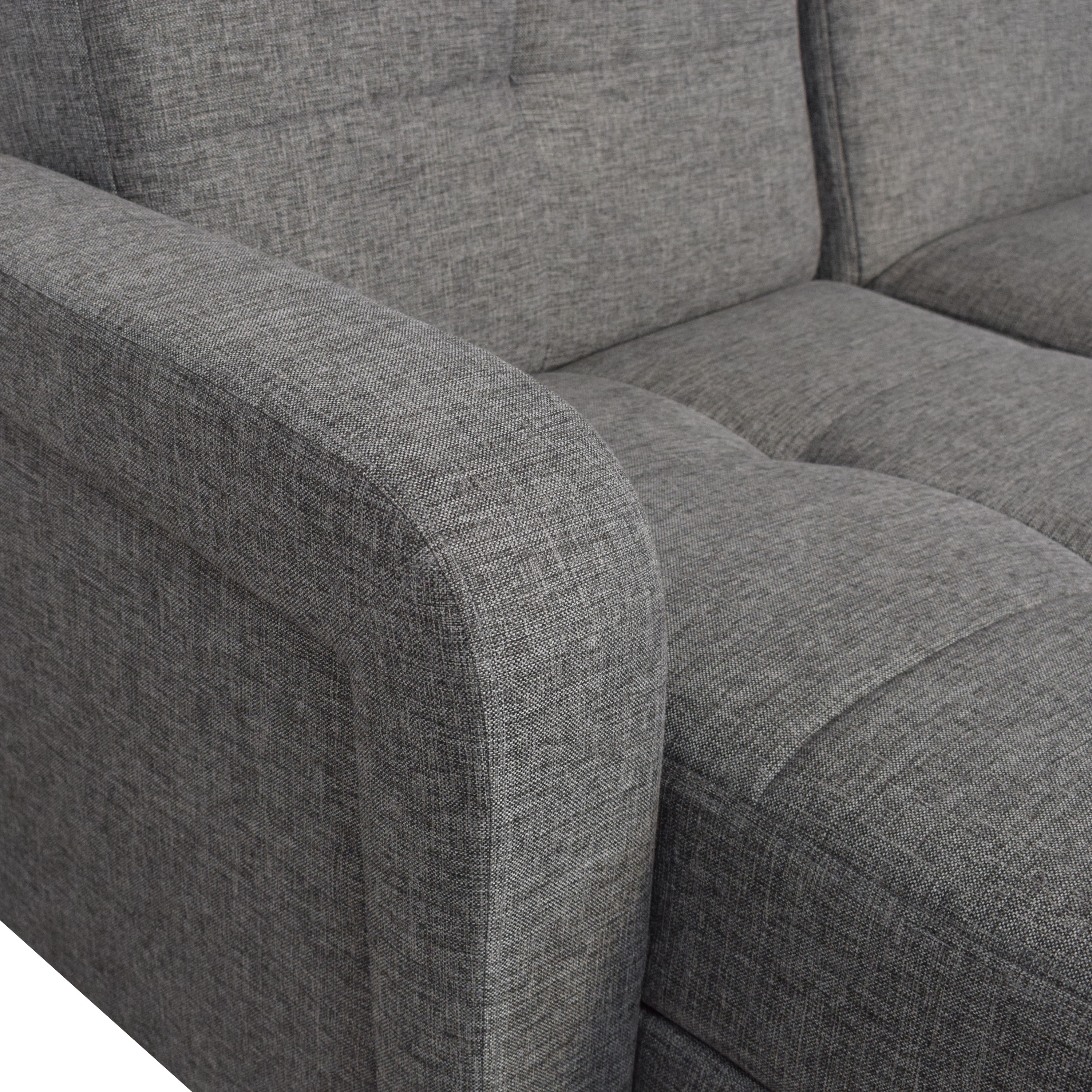 buy Istikbal Vision Diego Sectional Sofa and Ottoman Istikbal Sofas