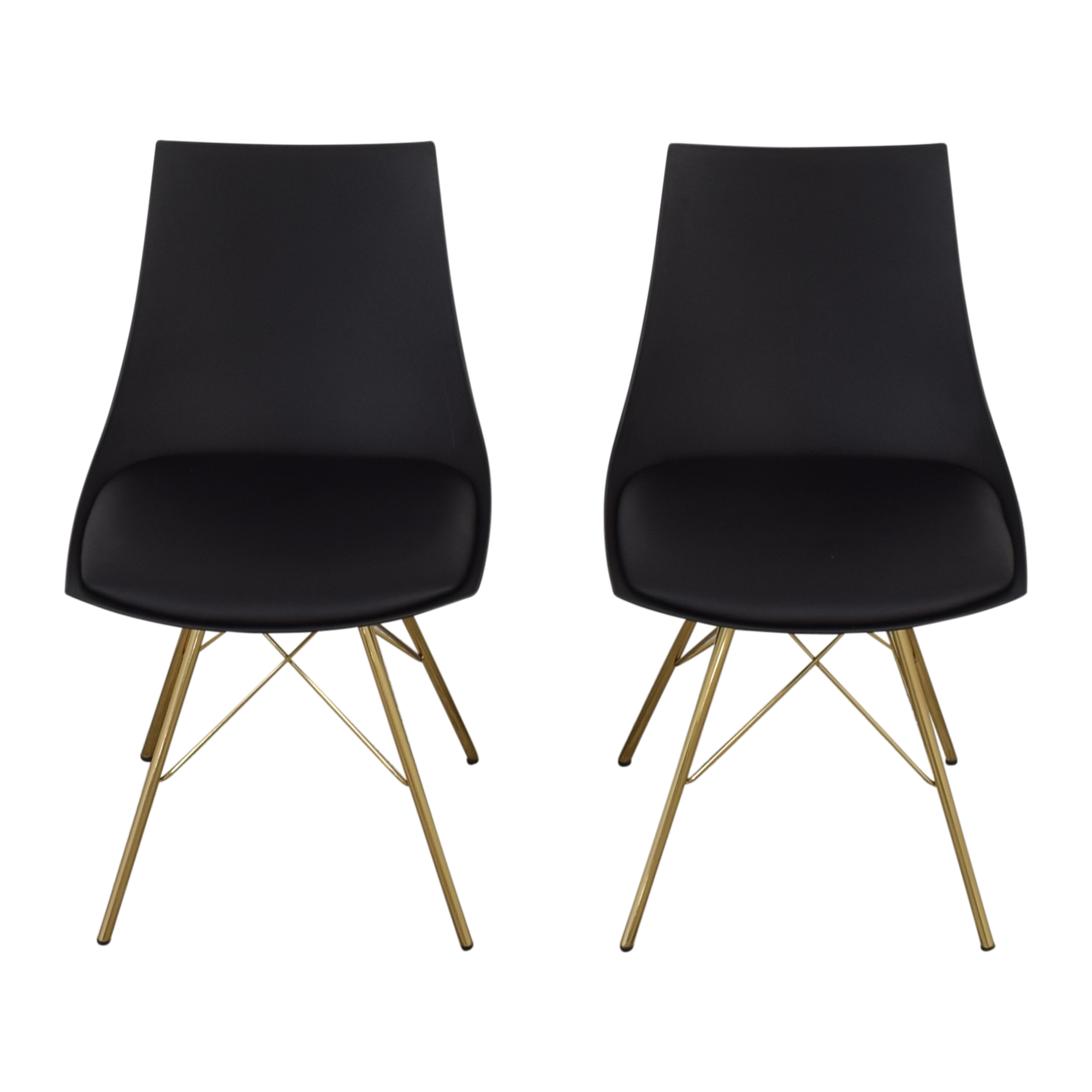 Office Star Office Star Dining Chairs with Padded Seat in Black pa