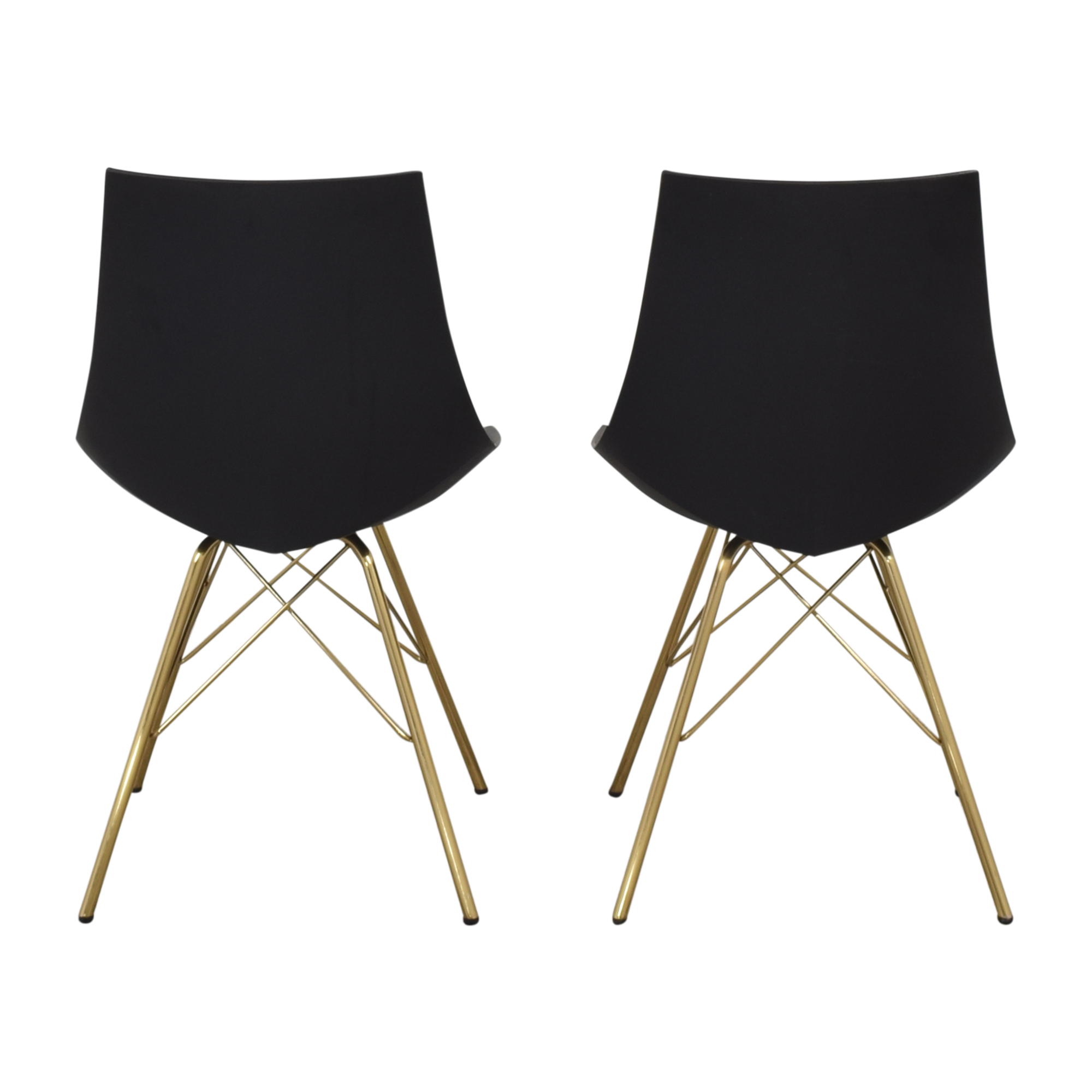 Office Star Office Star Dining Chairs with Padded Seat in Black ma