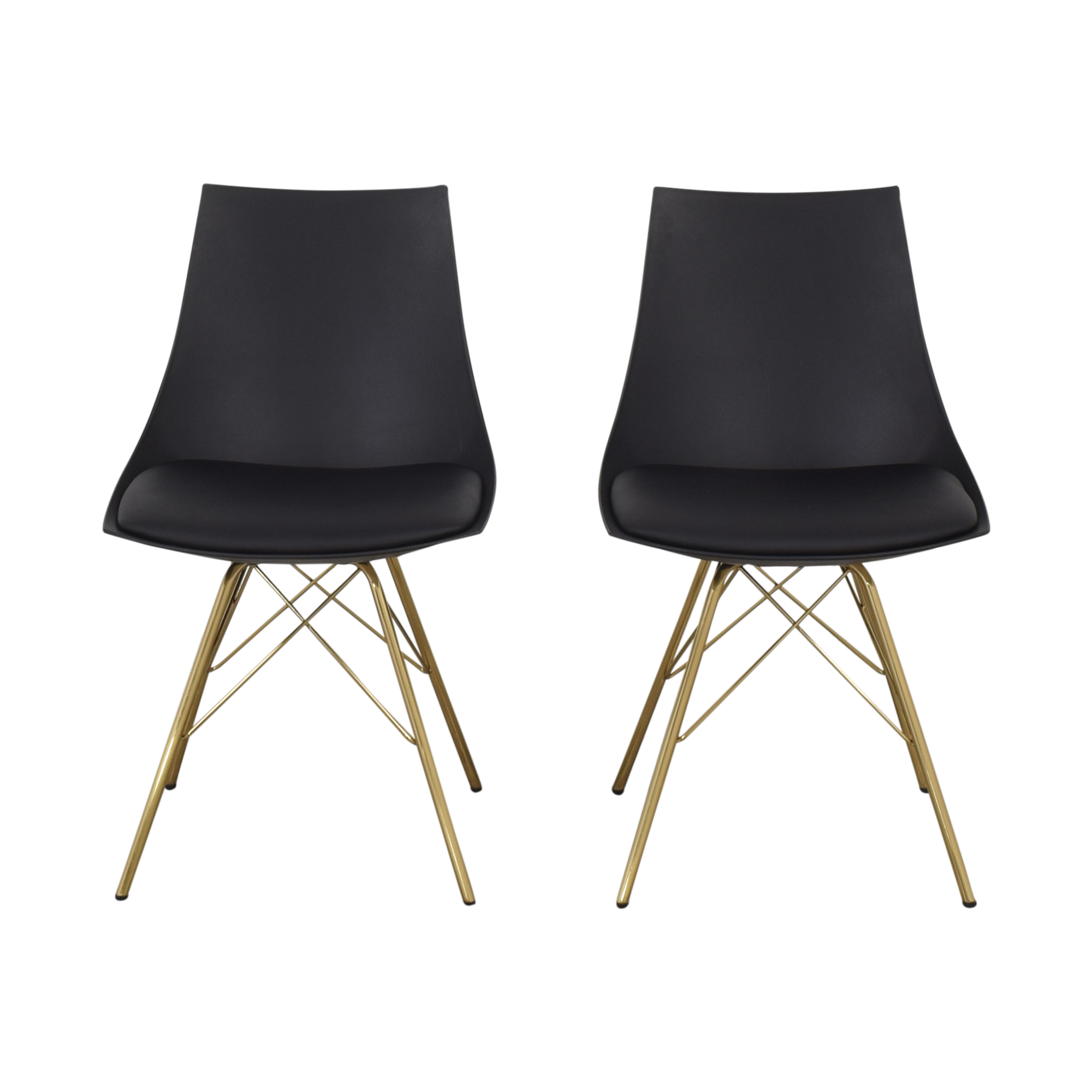 Office Star Office Star Dining Chairs with Padded Seat in Black nyc