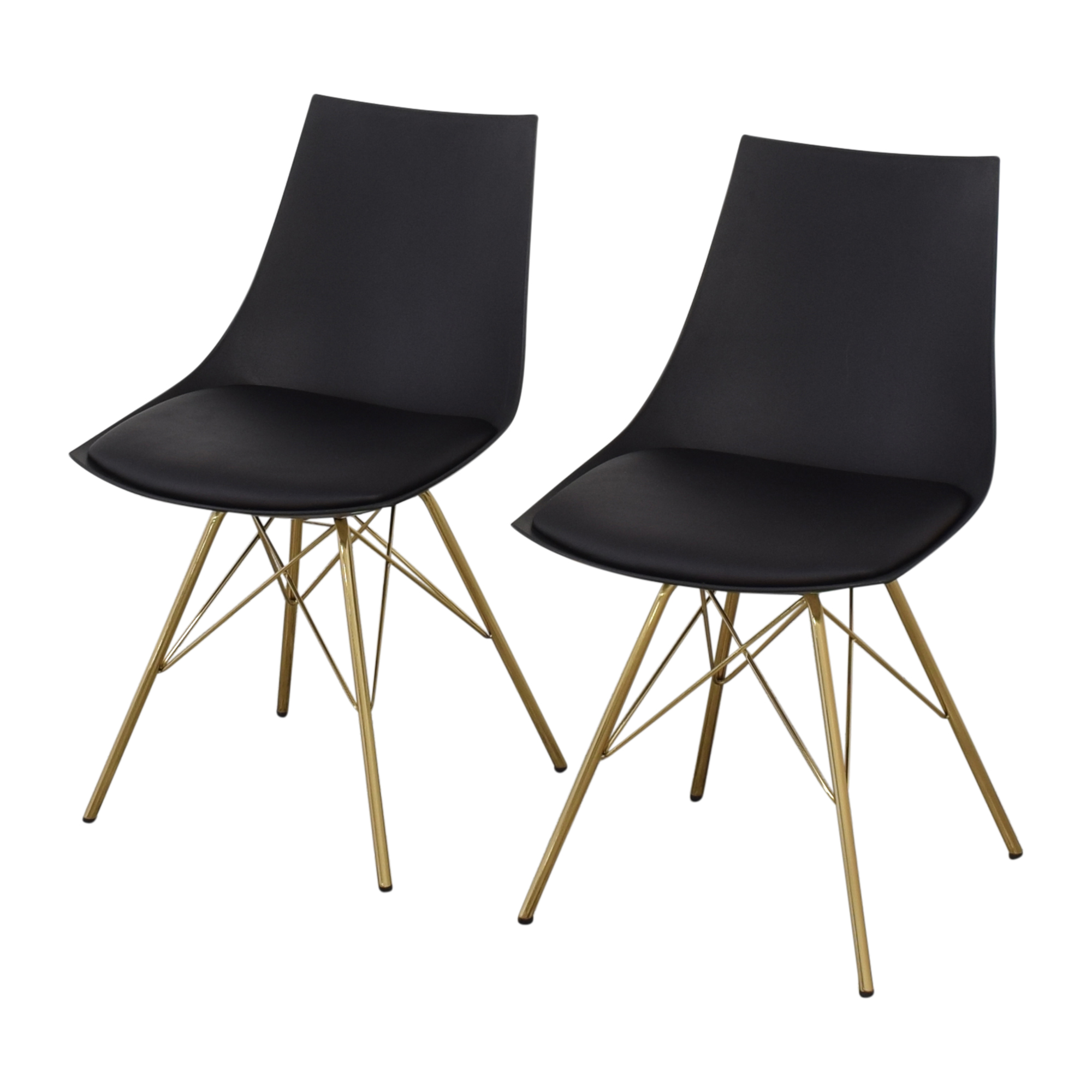 Office Star Office Star Dining Chairs with Padded Seat in Black on sale
