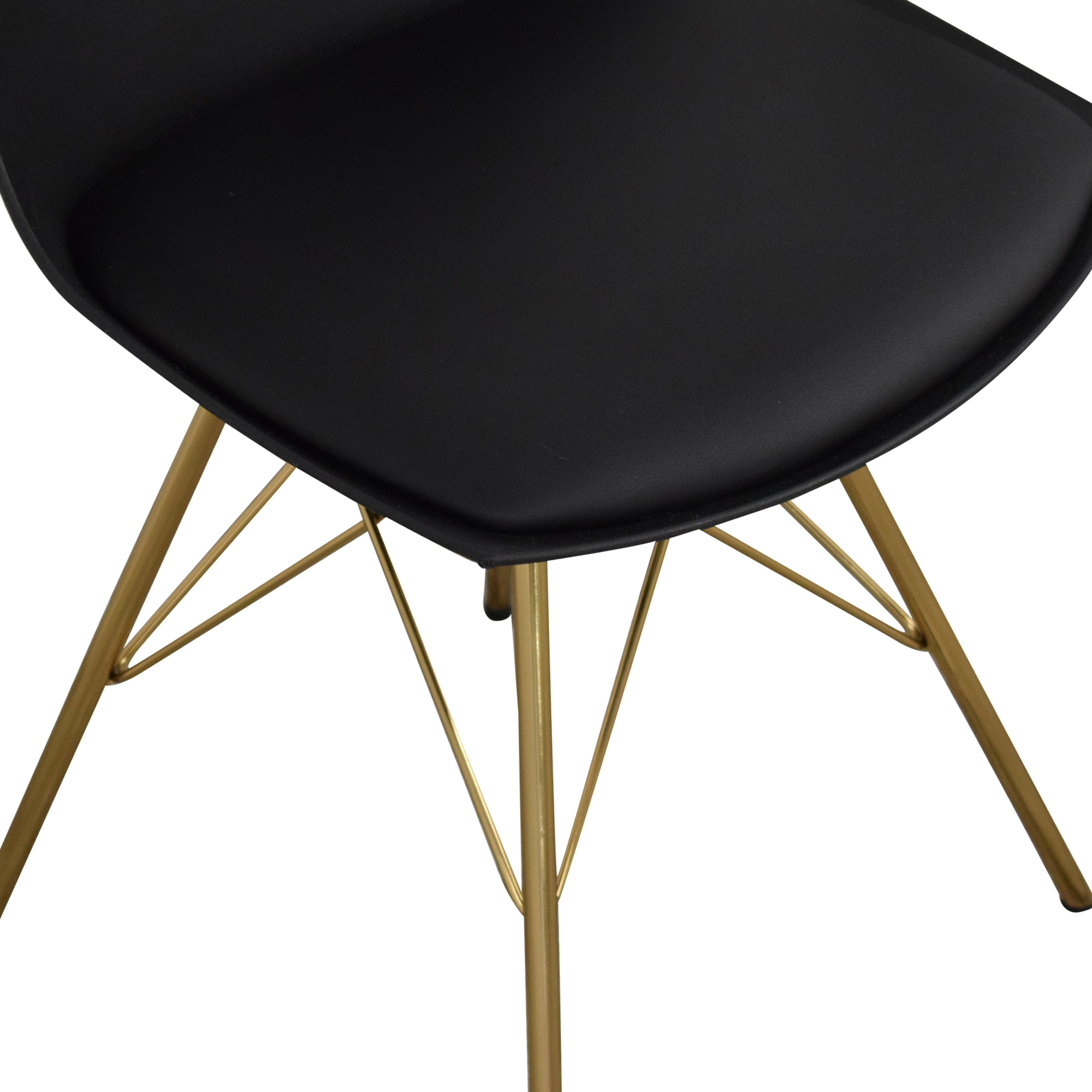 buy Office Star Office Star Dining Chairs with Padded Seat in Black online