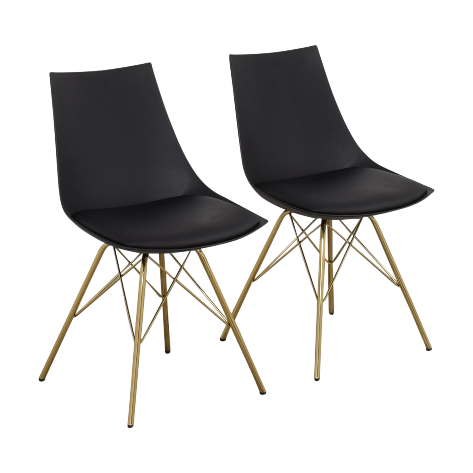 Office Star Office Star Dining Chairs with Padded Seat in Black Chairs