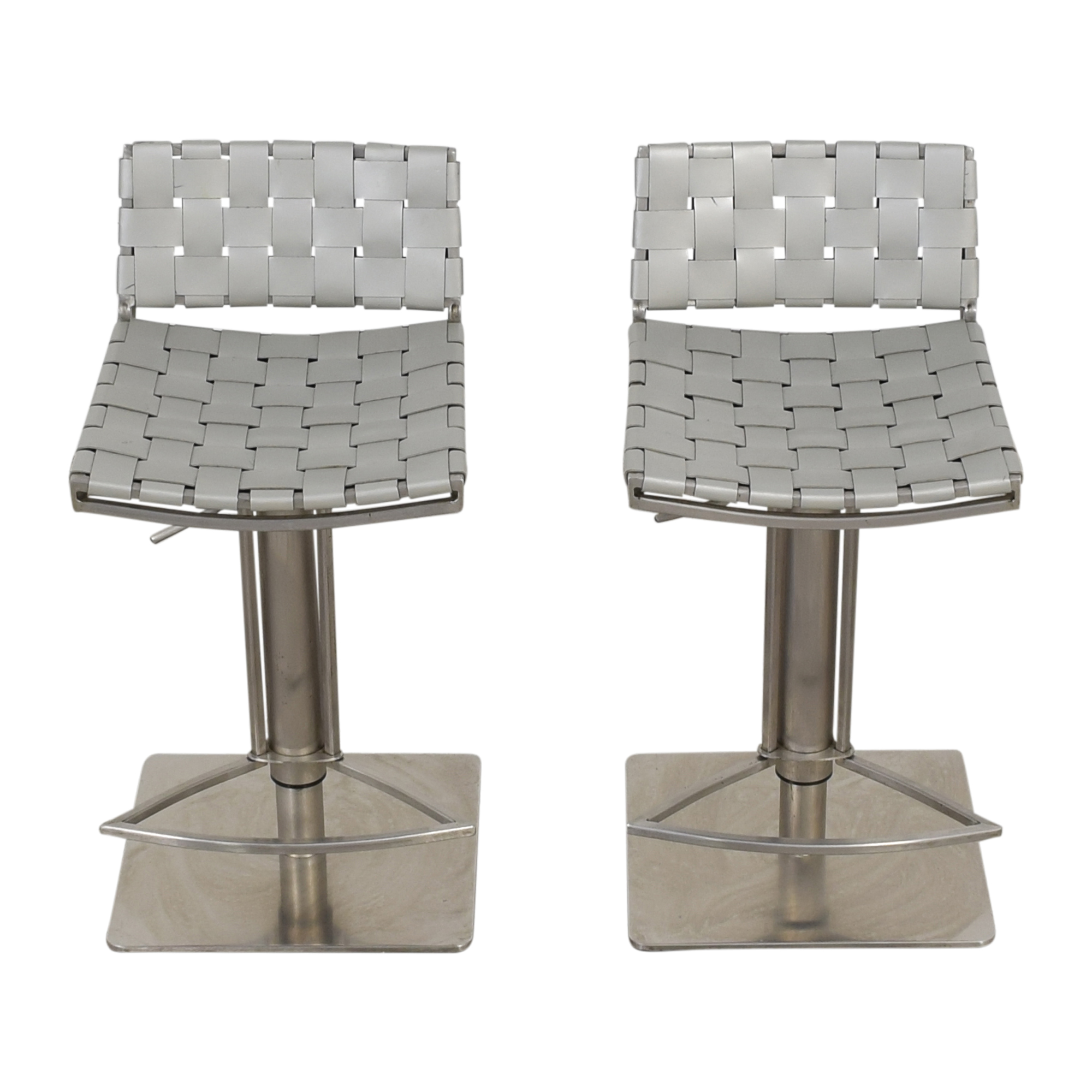 buy  White and Chrome Woven Barstools online