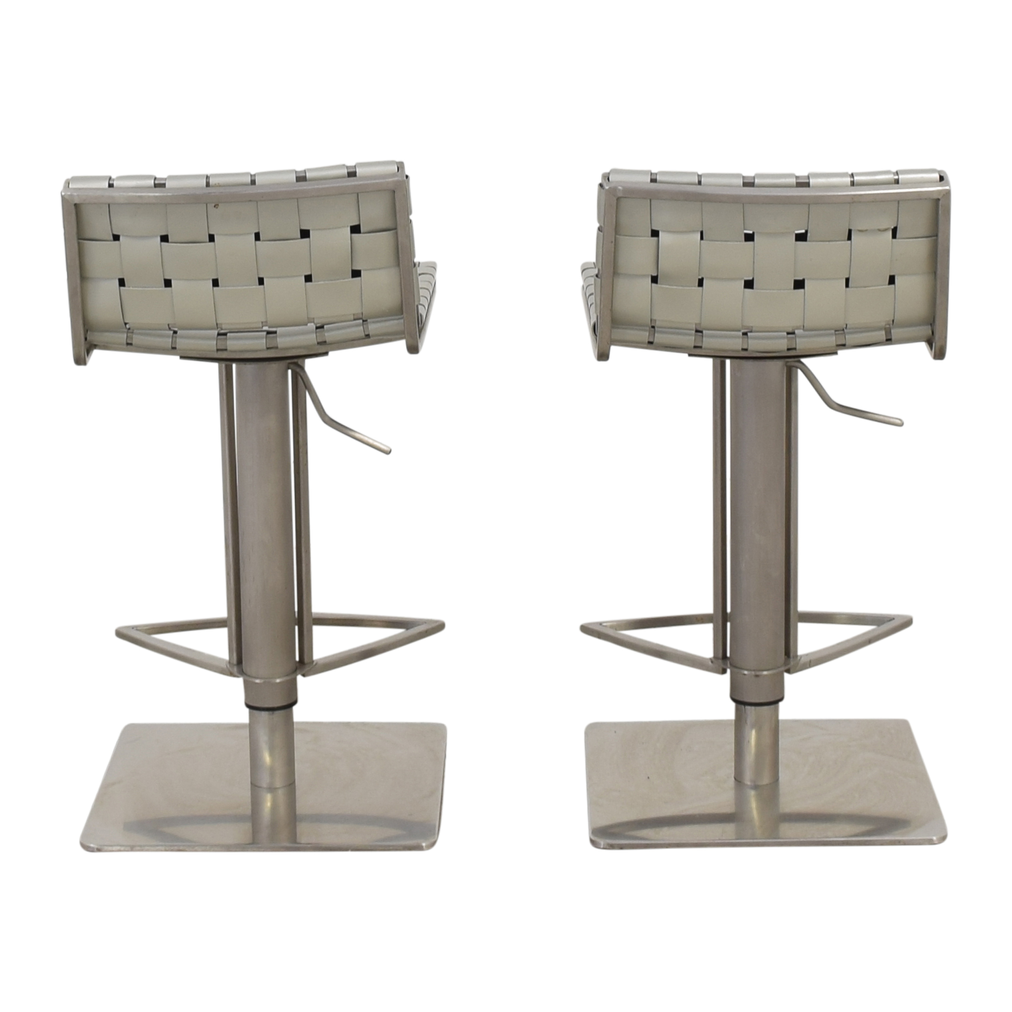White and Chrome Woven Barstools price