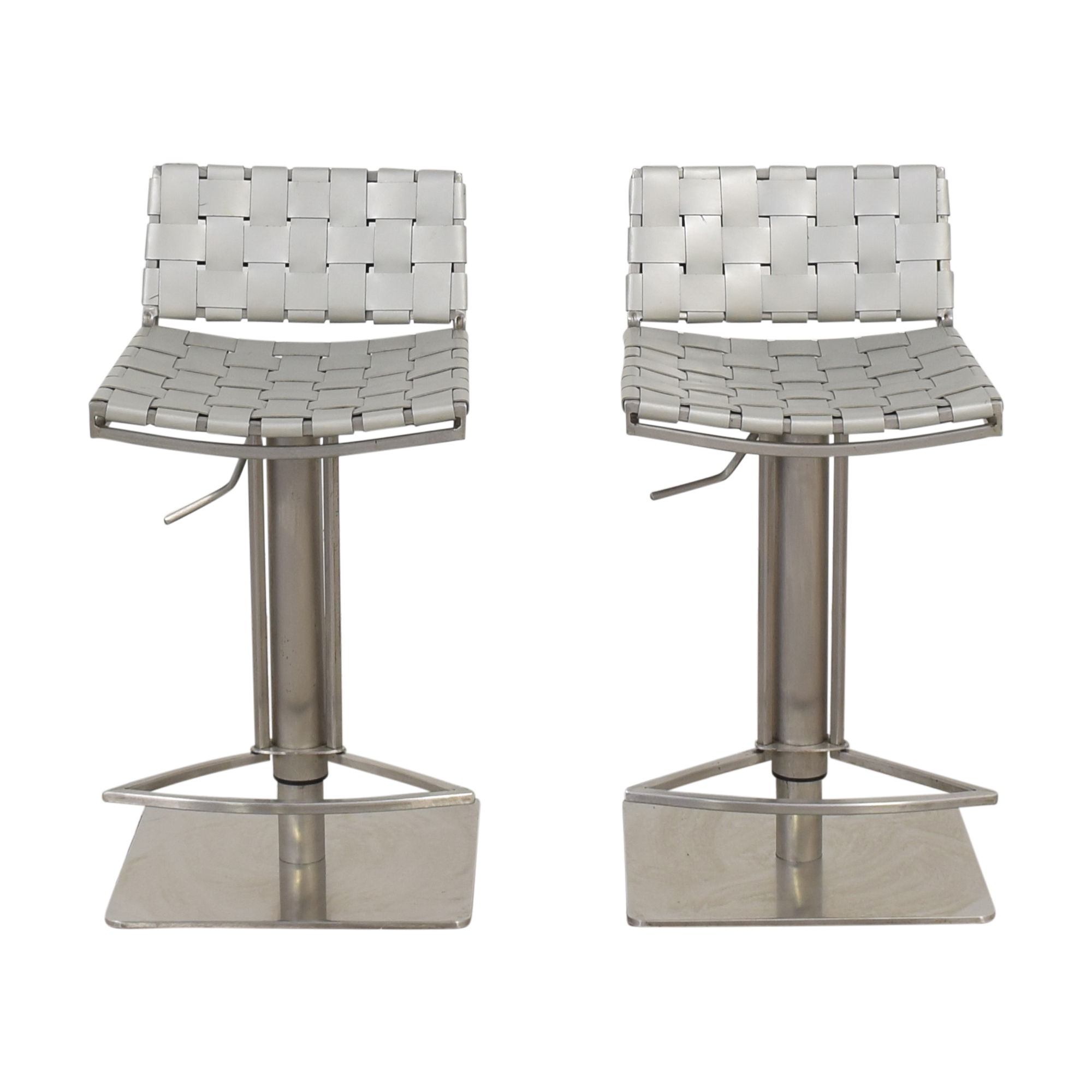 buy White and Chrome Woven Barstools  Chairs