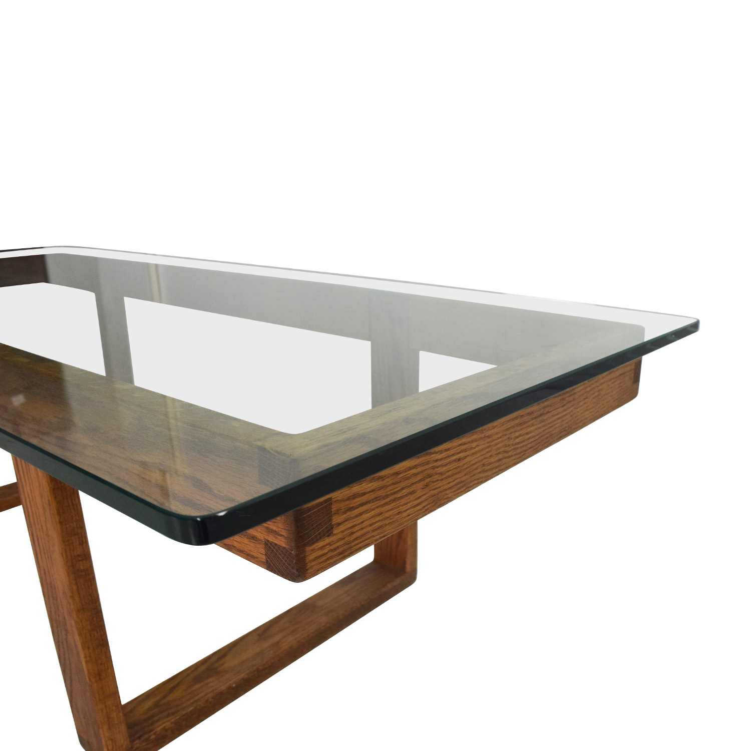 60 Off Unknown Brand Antique Glass Coffee Table Tables