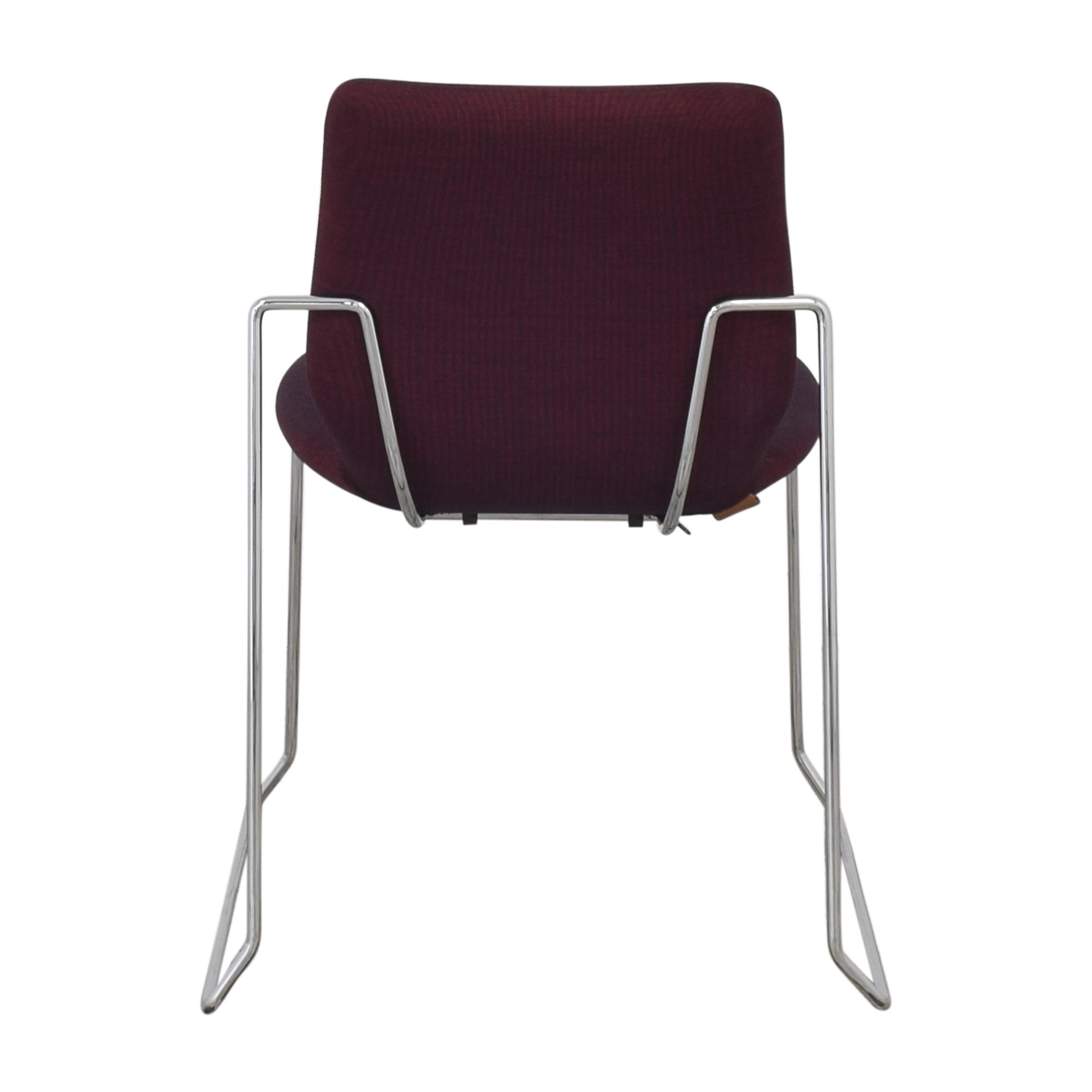 Koleksiyon Koleksiyon Asanda Armless Chair red and black