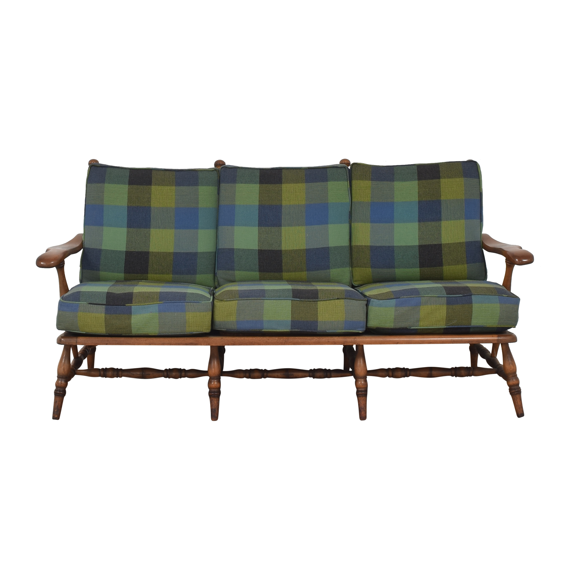Plaid Cushion Sofa / Classic Sofas