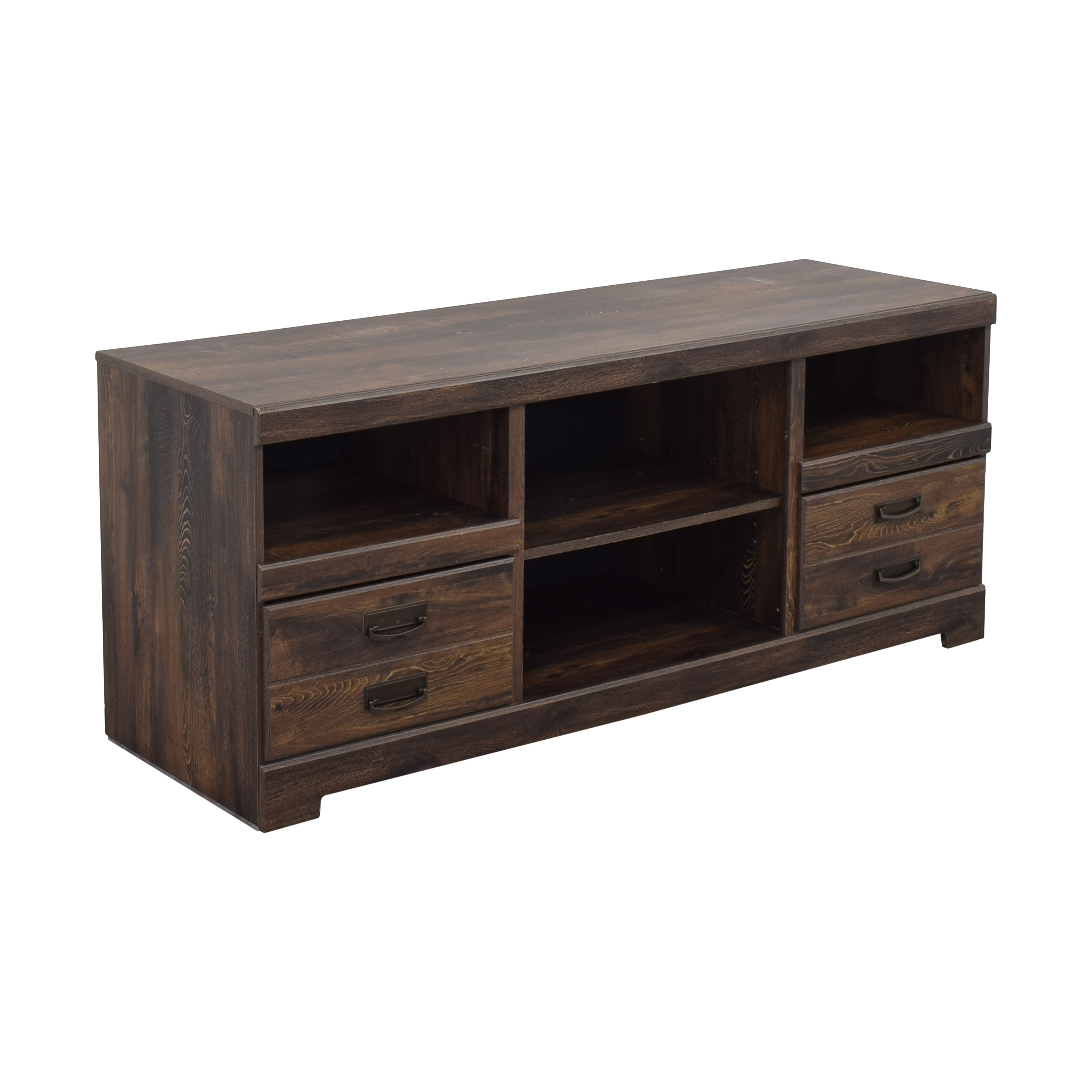 Ashley Furniture Ashley Furniture Media Console with Two Drawers used