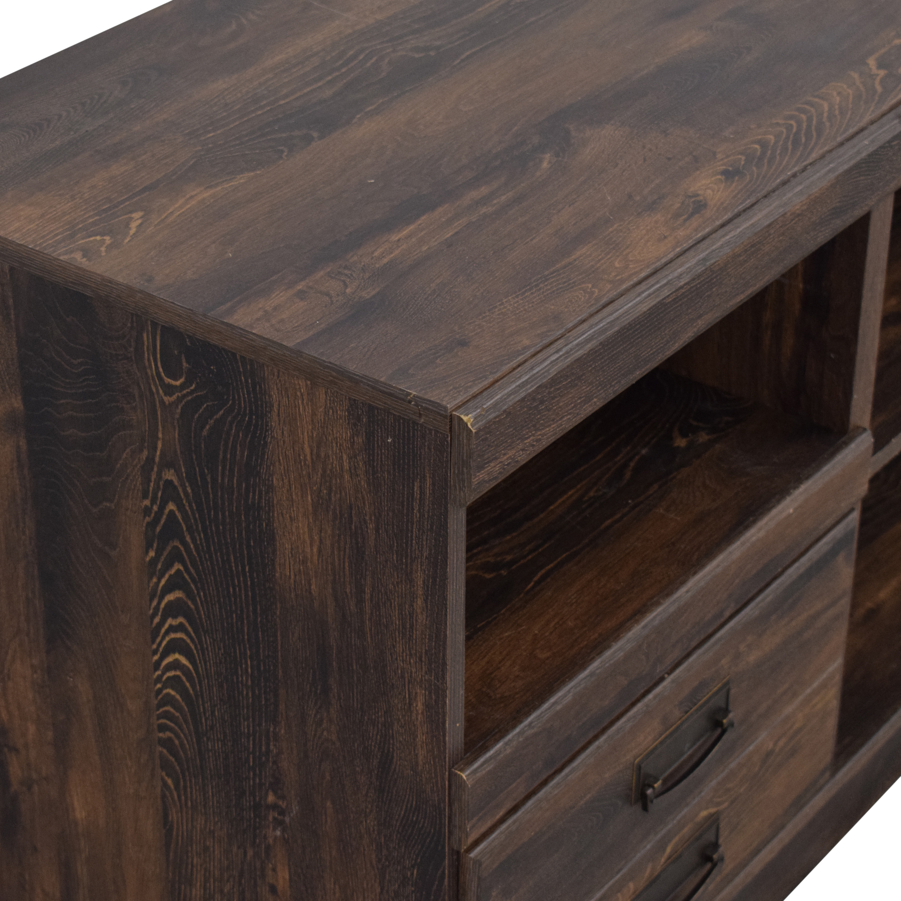 shop Ashley Furniture Media Console with Two Drawers Ashley Furniture Storage