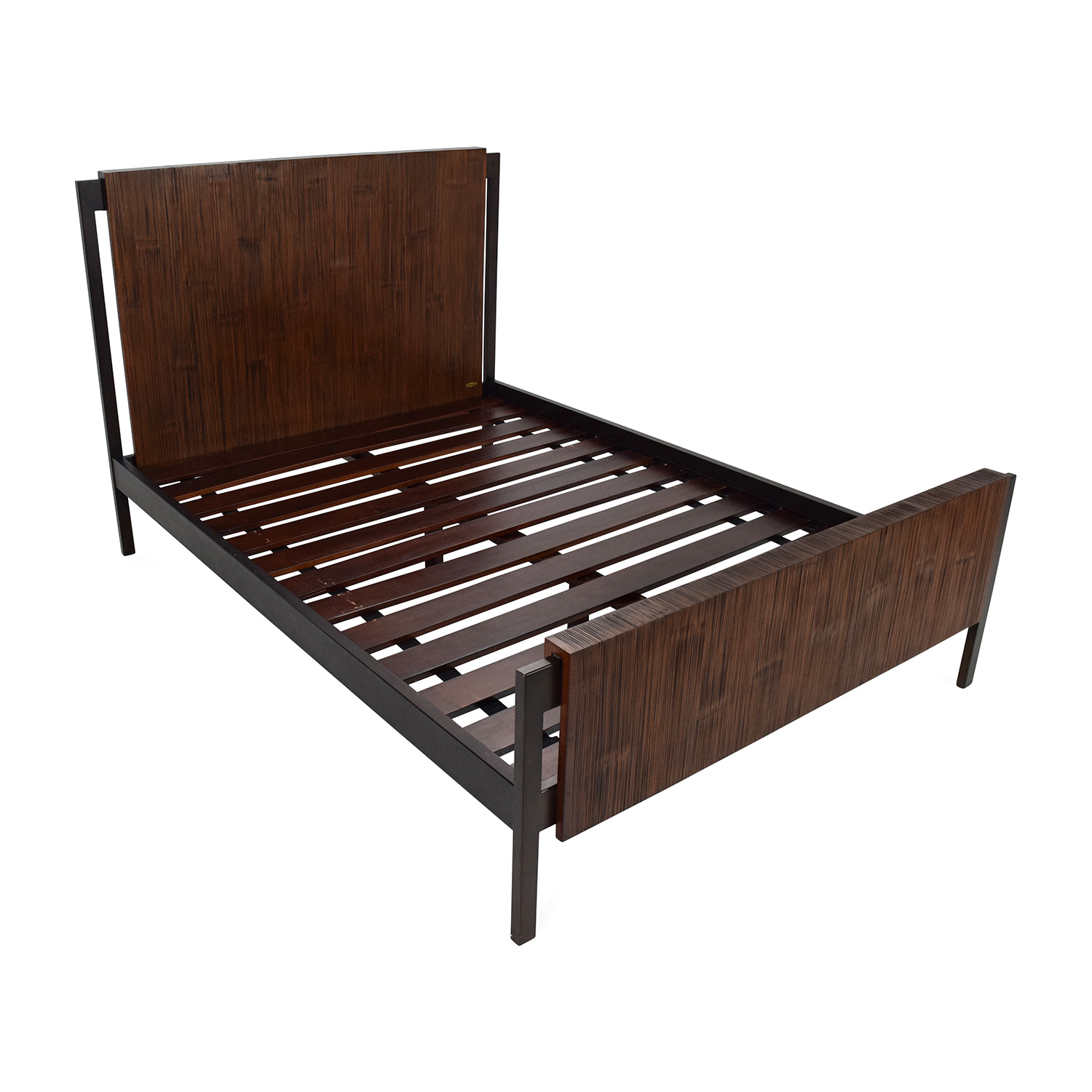 66% off - crate and barrel crate and barrel madura full bed frame