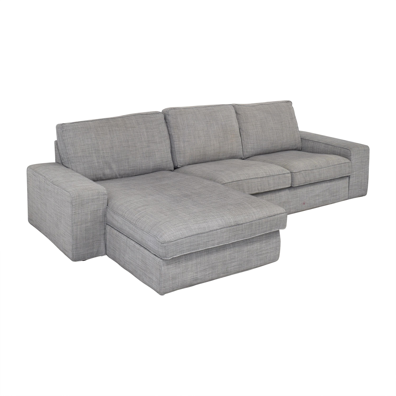 buy IKEA KIVIK Chaise Sectional Sofa IKEA Sofas