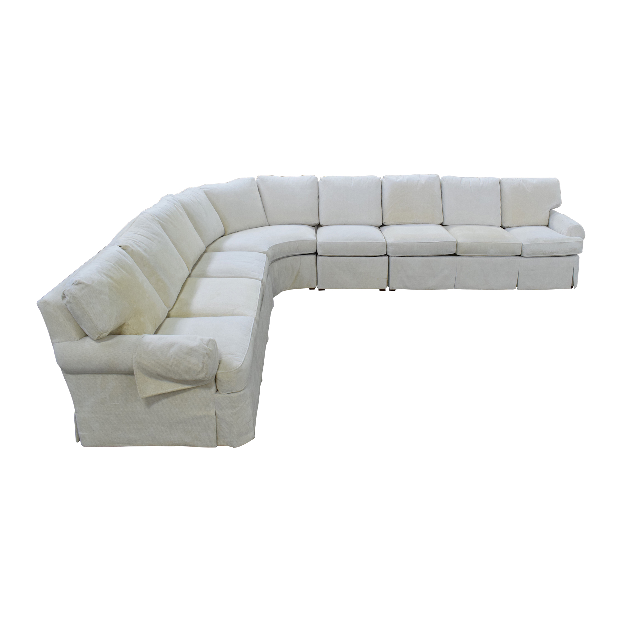 Hickory Chair Hickory Chair Sovereign Curved Sectional Sofa dimensions