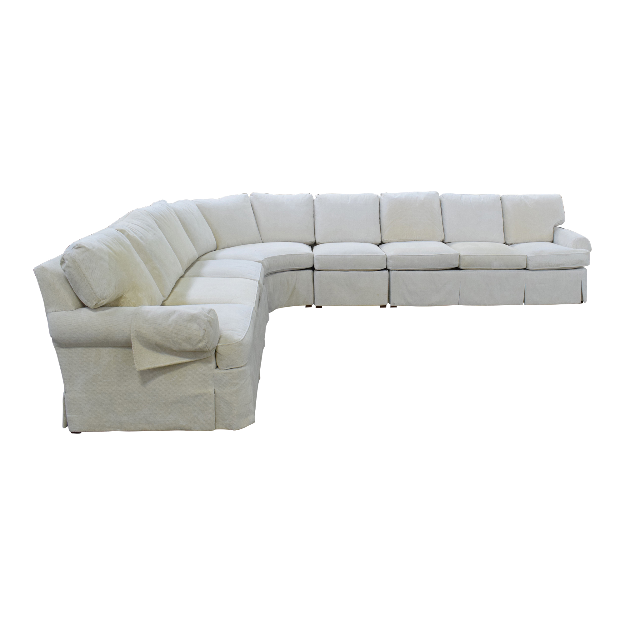 shop Hickory Chair Sovereign Curved Sectional Sofa Hickory Chair Sofas