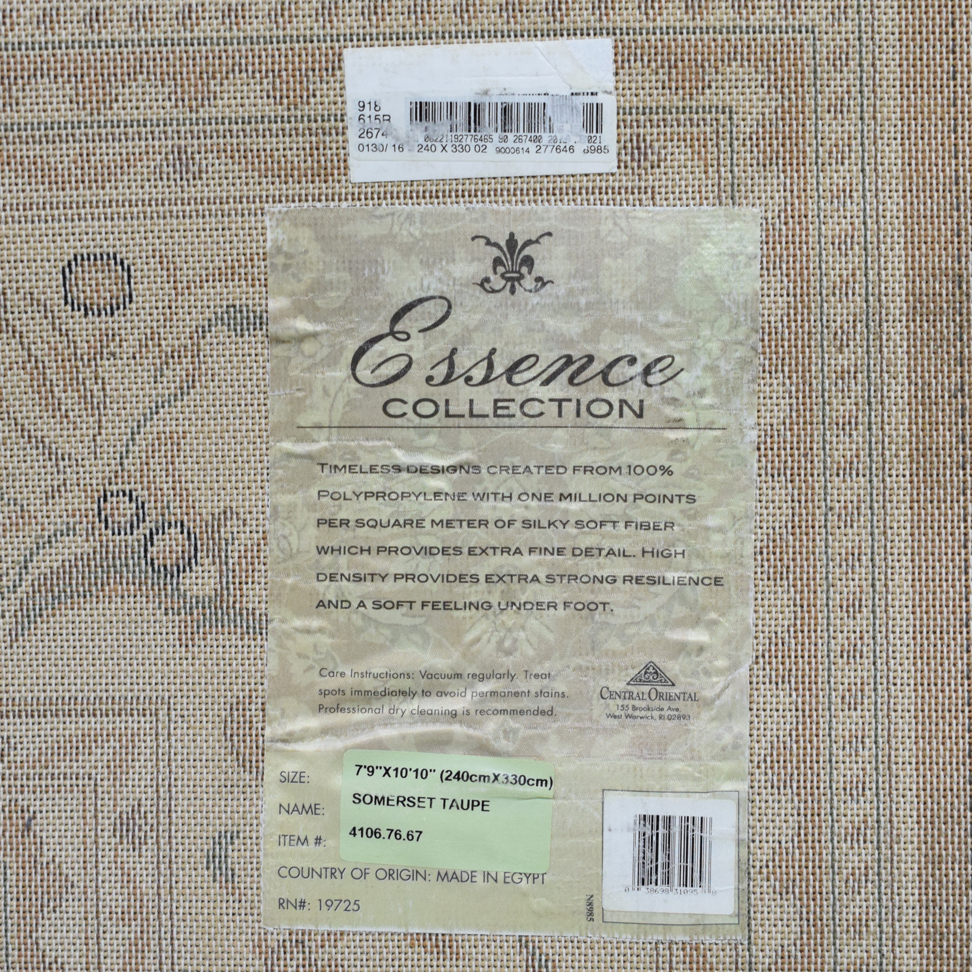 Central Oriental Somerset Taupe Rug Central Oriental