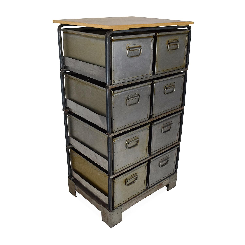 Unknown Brand Metal Storage Bins used