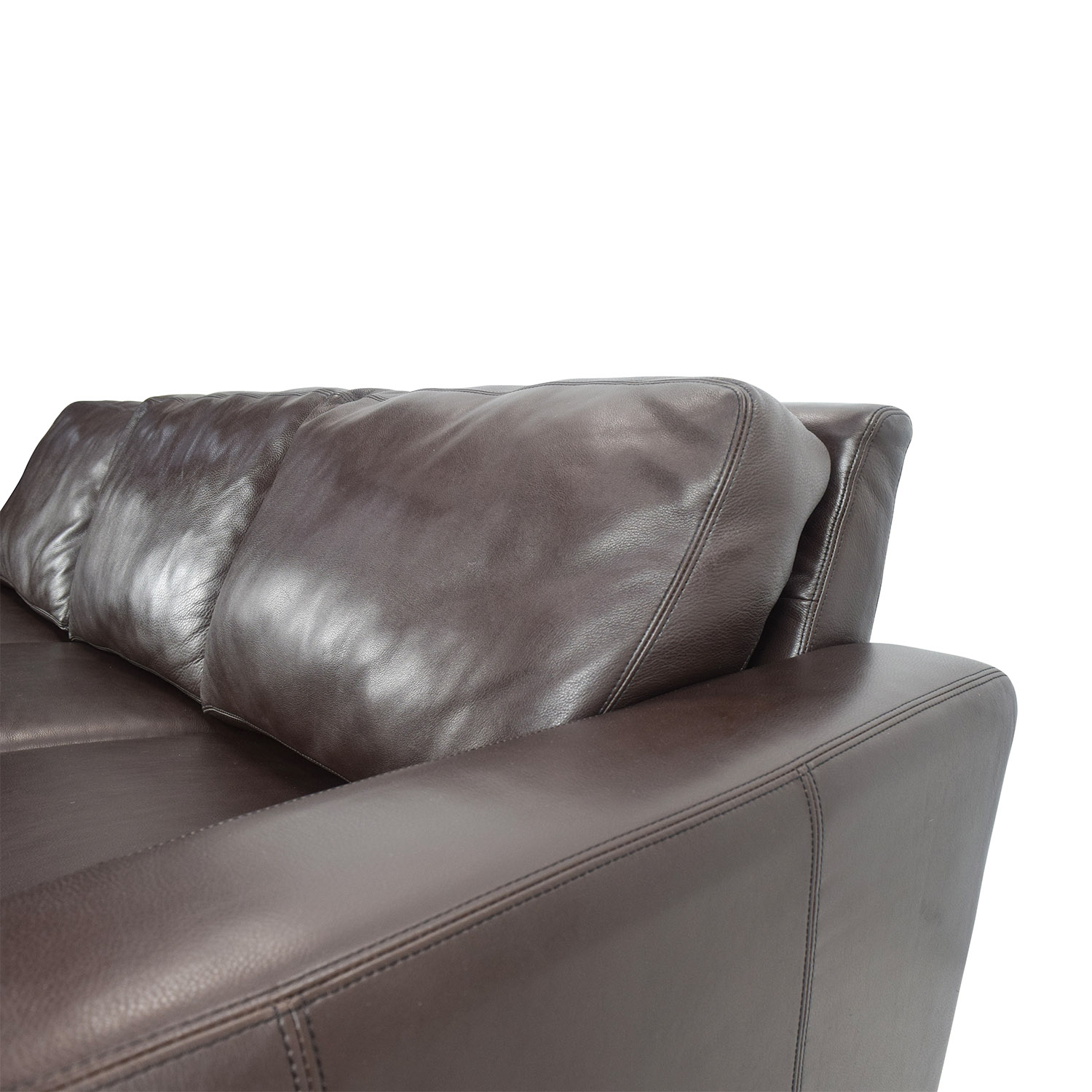 design within reach design within reach dark leather sofa dark chocolate