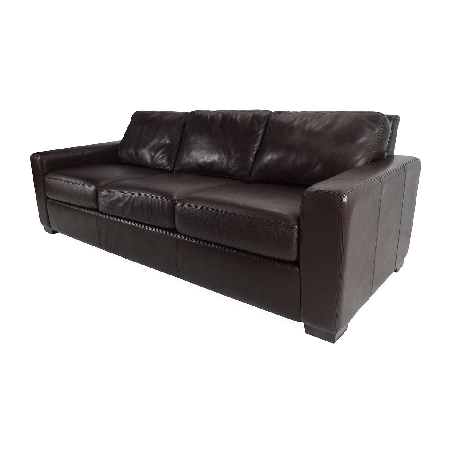 Sofa bed design within reach -  Design Within Reach Dark Leather Sofa Classic Sofas