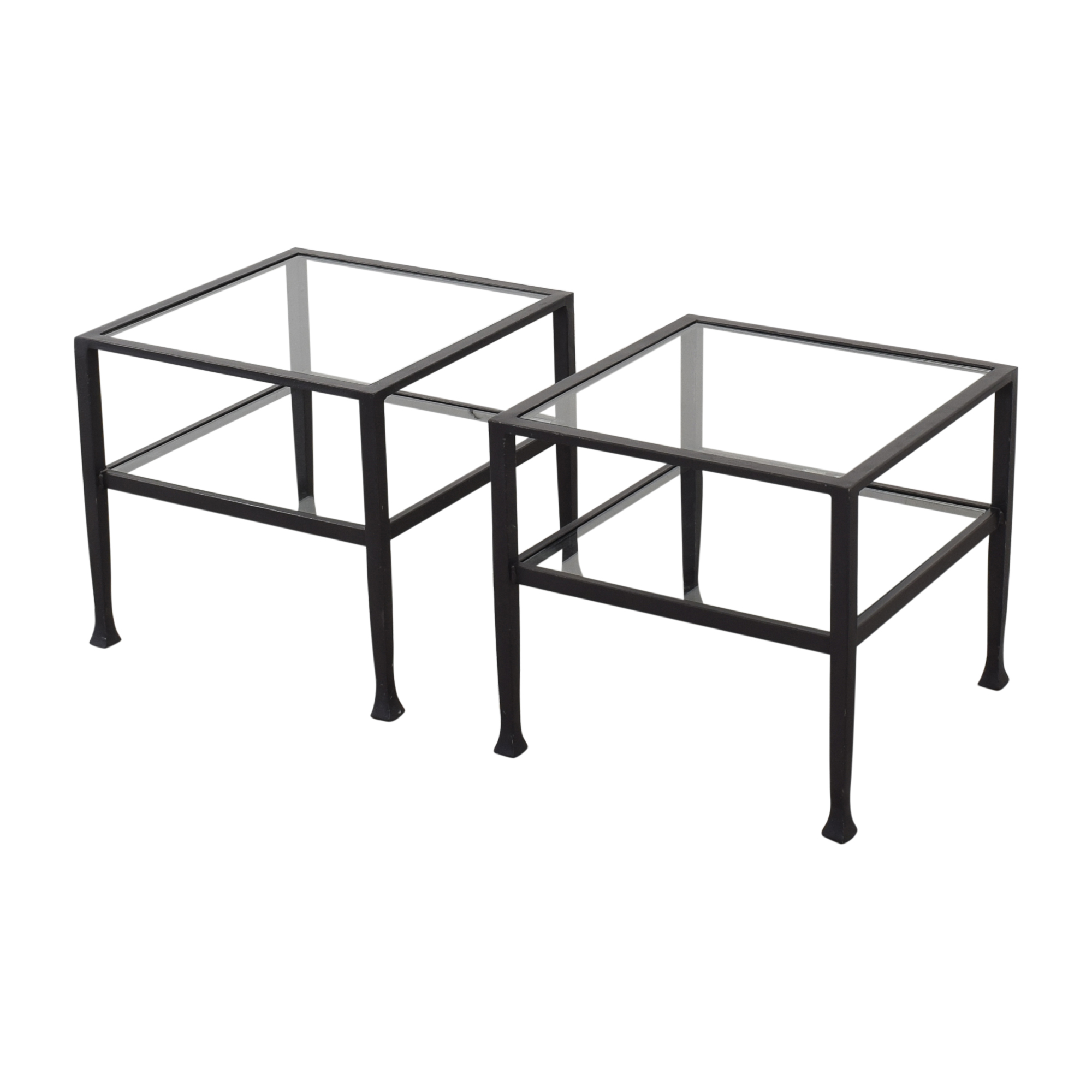 Pottery Barn Tanner Cube Coffee Tables / End Tables