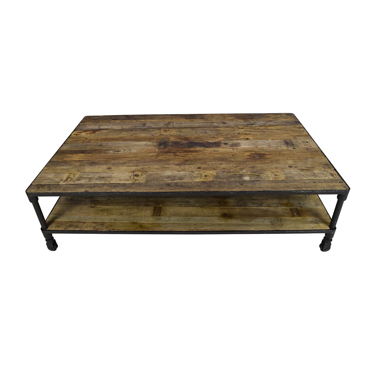 Great ... Restoration Hardware Restoration Hardware Oversized Coffee Table Medium  Brown / Black ...
