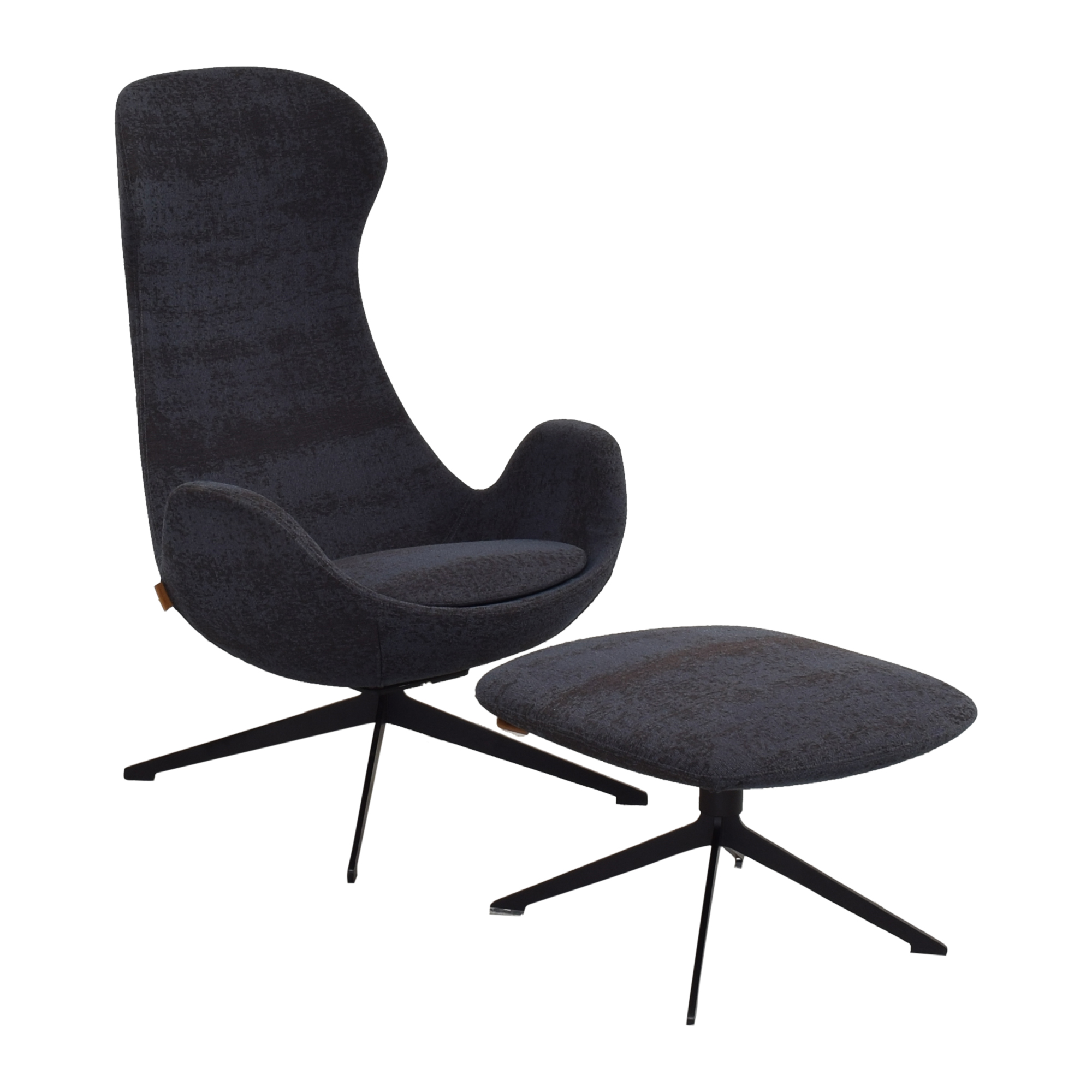 buy Koleksiyon Halia High Back Armchair with Ottoman Koleksiyon Home Office Chairs